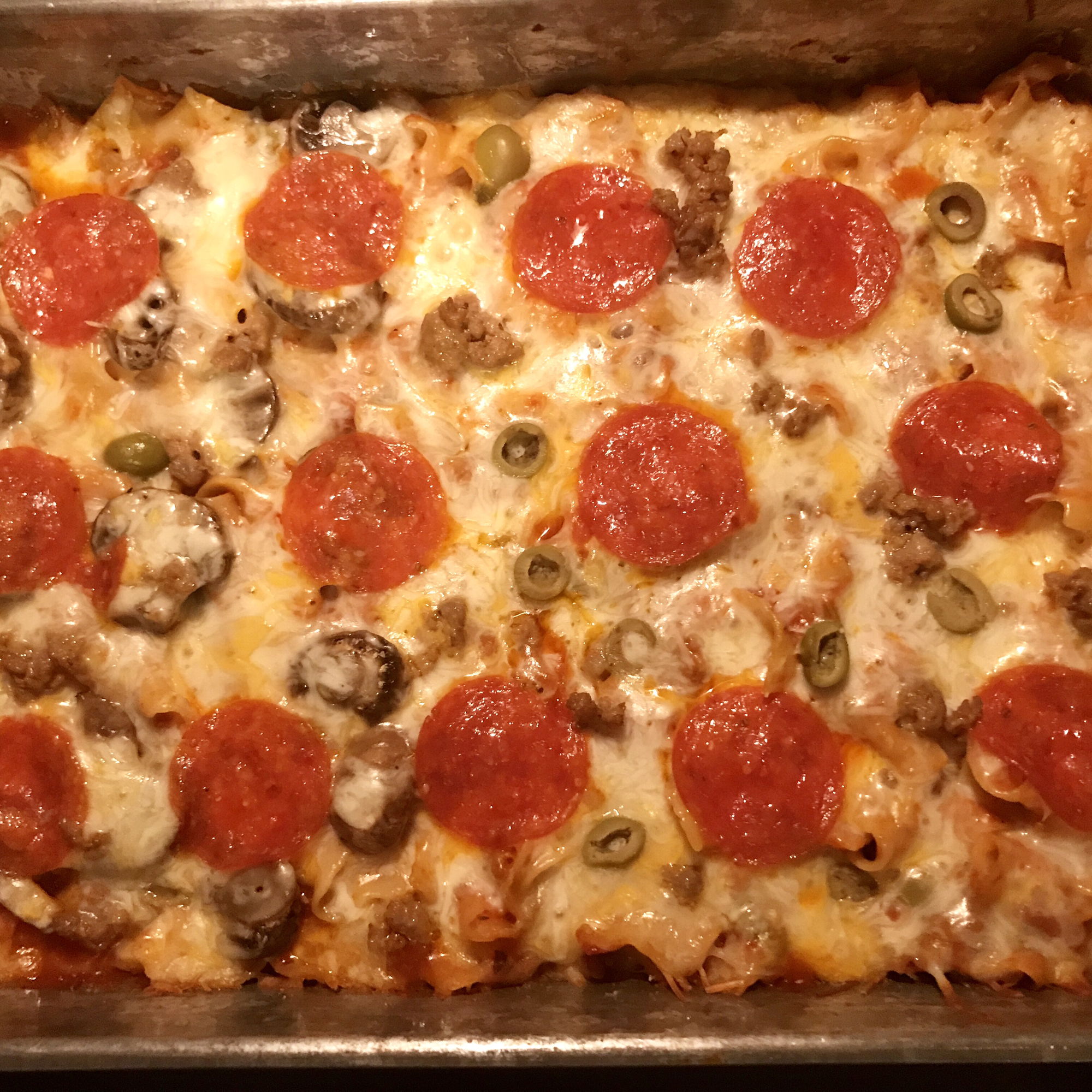 Pepperoni Pizza Casserole Amy Campbell