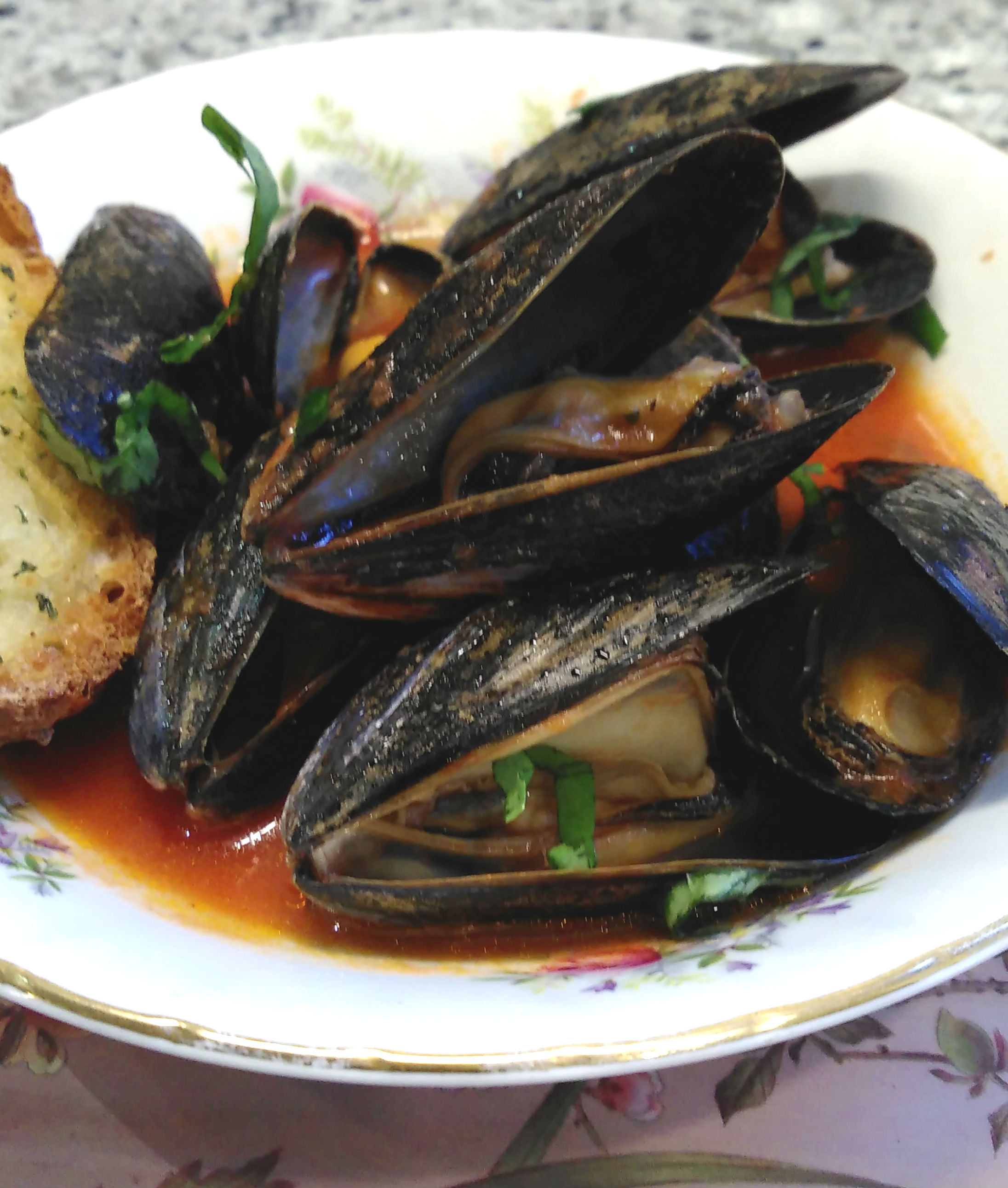 Mussels Pomodoro Chef and a Baker