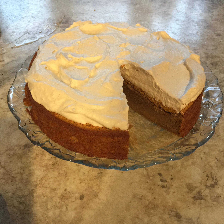 Pumpkin Magic Cake with Maple Cinnamon Whipped Cream Maggie
