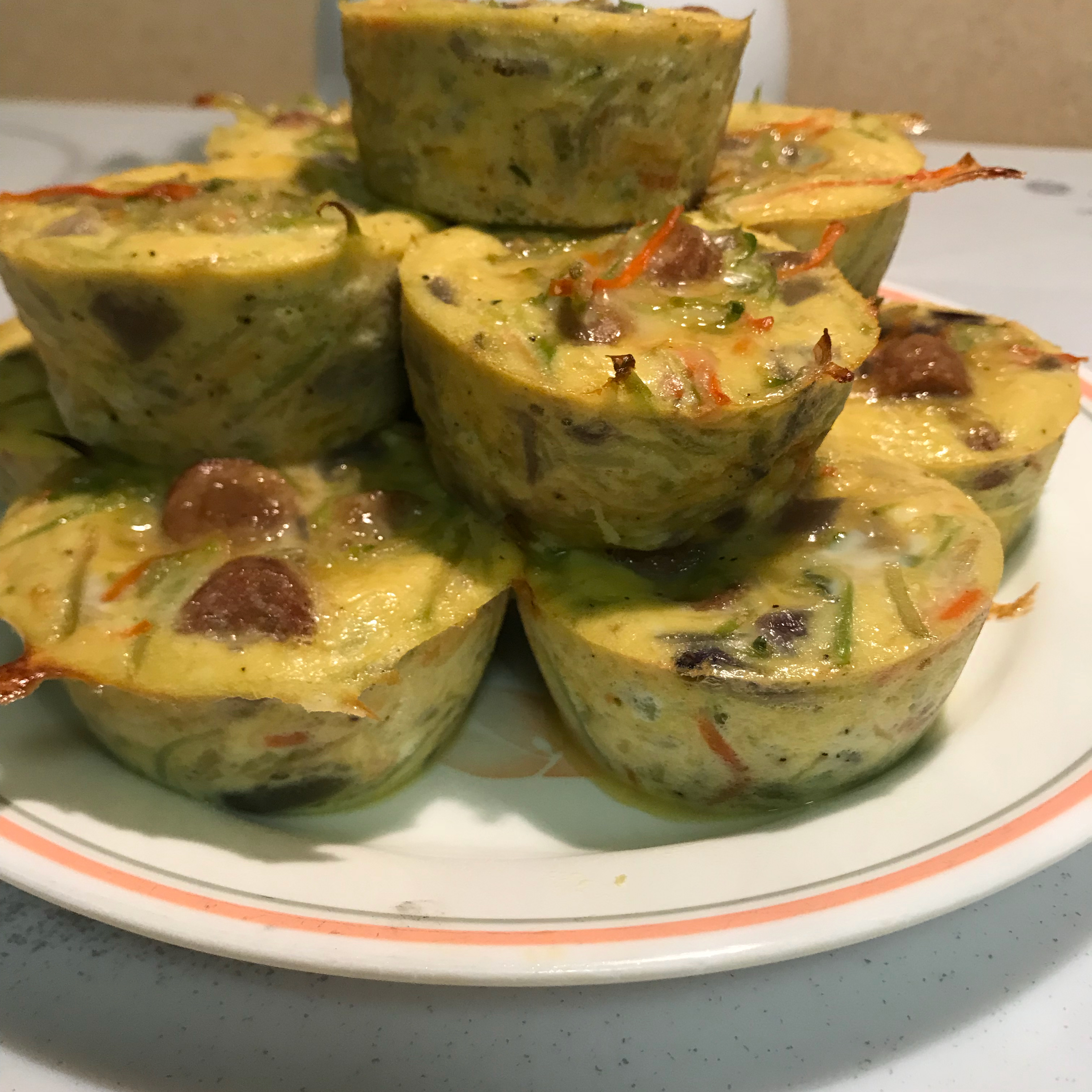 Low-Carb Bacon Spinach Egg Cups