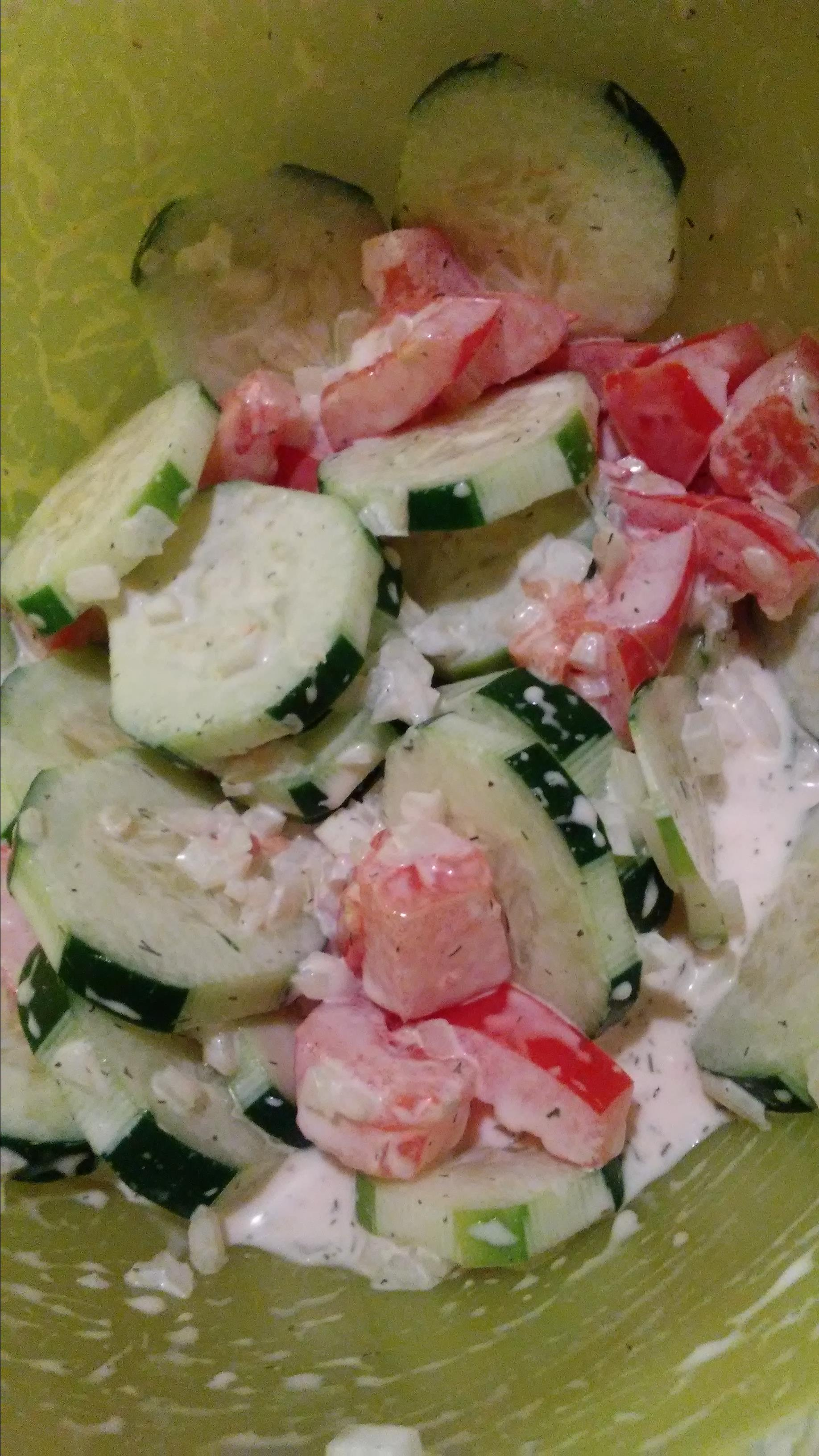 Mom's Cucumber Salad