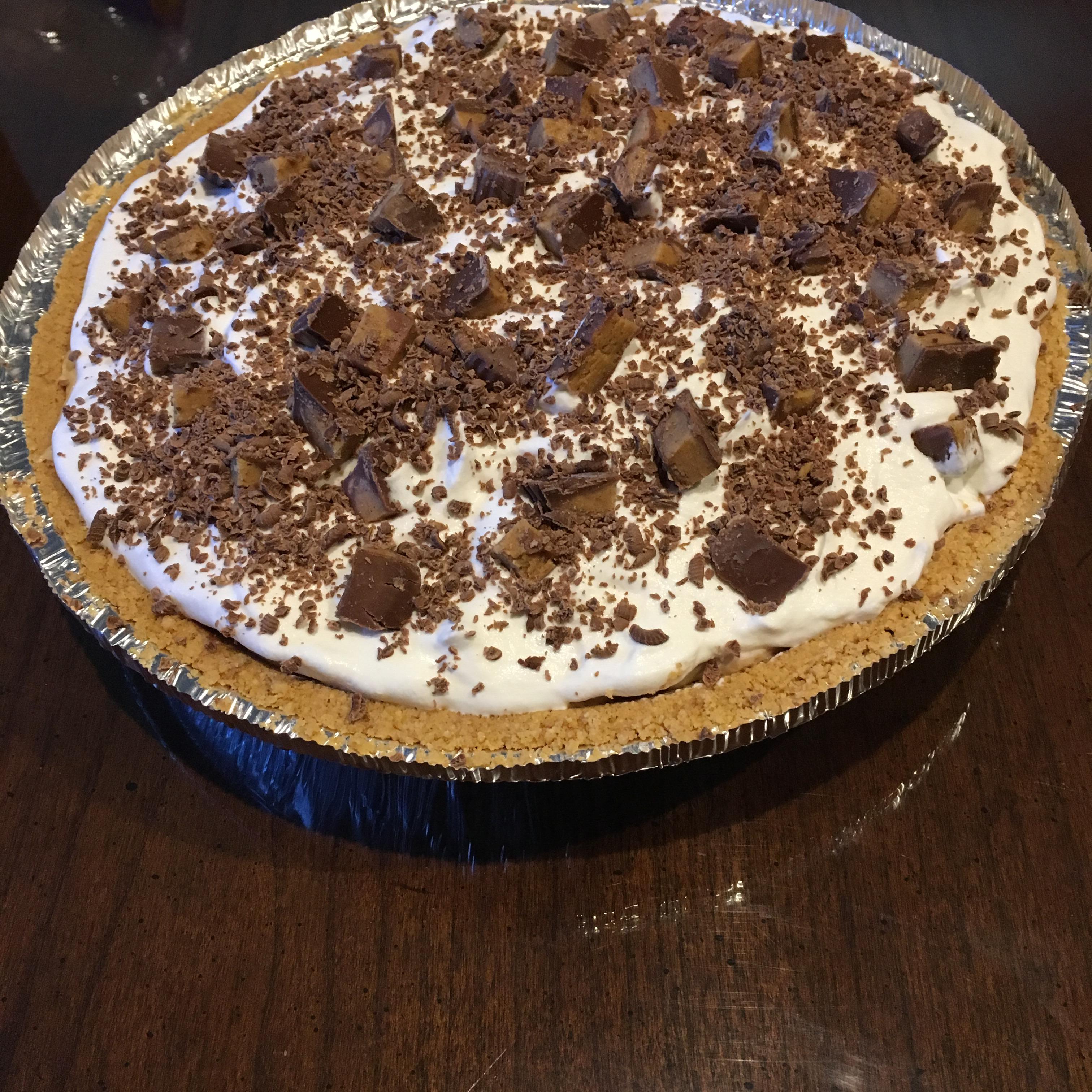 No-Bake Peanut Butter/Chocolate Pie cajen