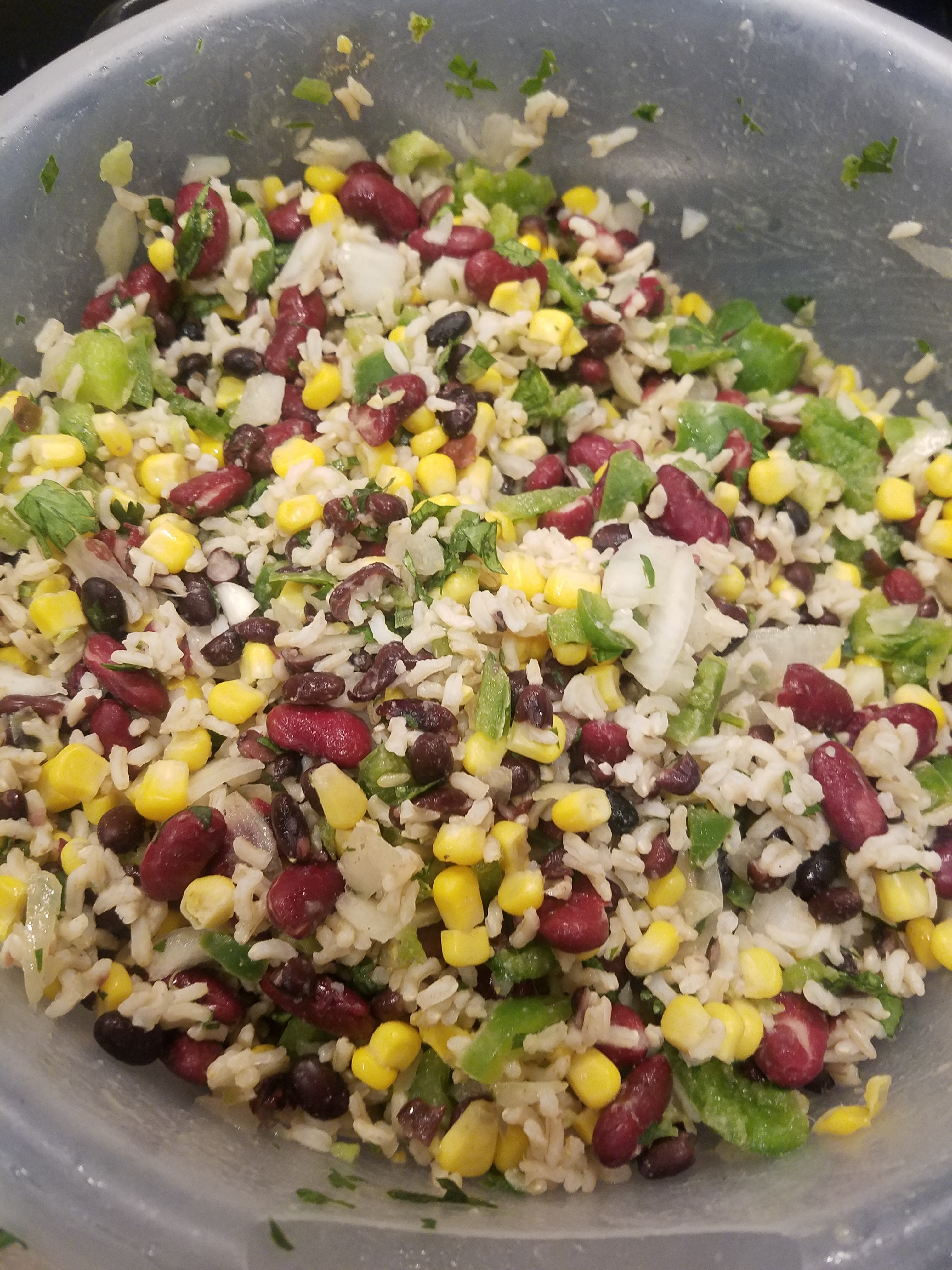 Mexican Bean and Rice Salad Queen JaLaNa