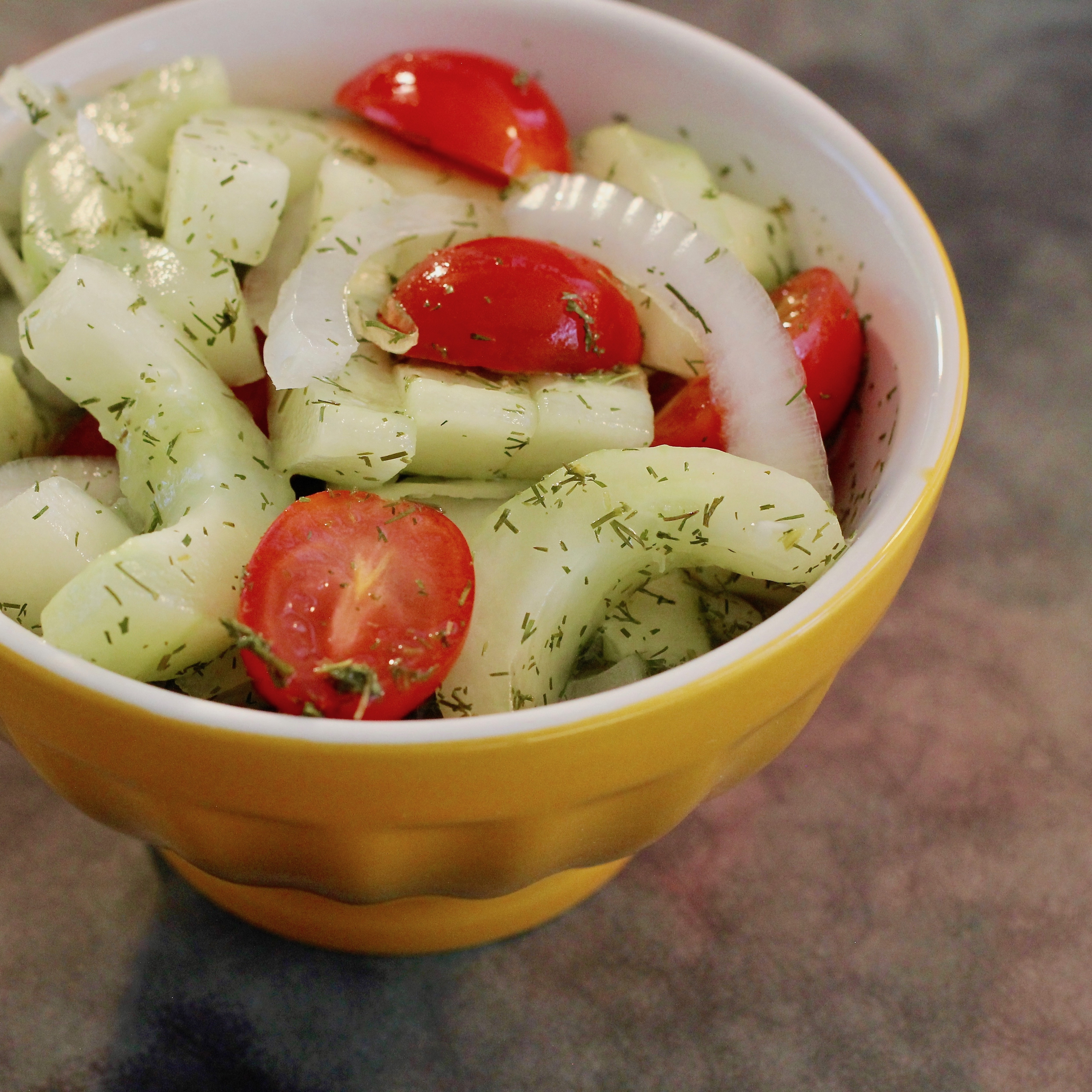 Cucumber Slices With Dill