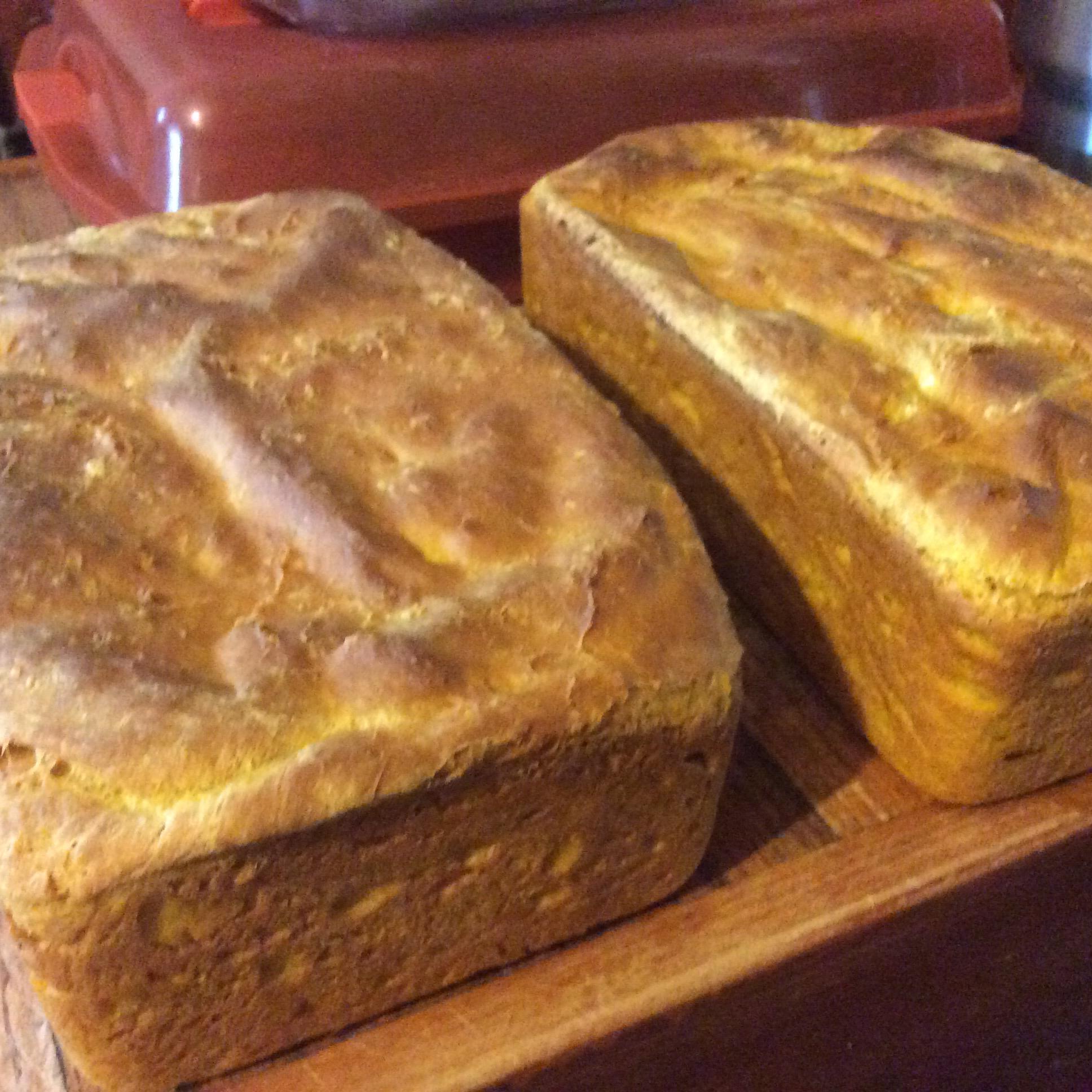 Pumpkin Yeast Bread Loaves Mindy Robinson