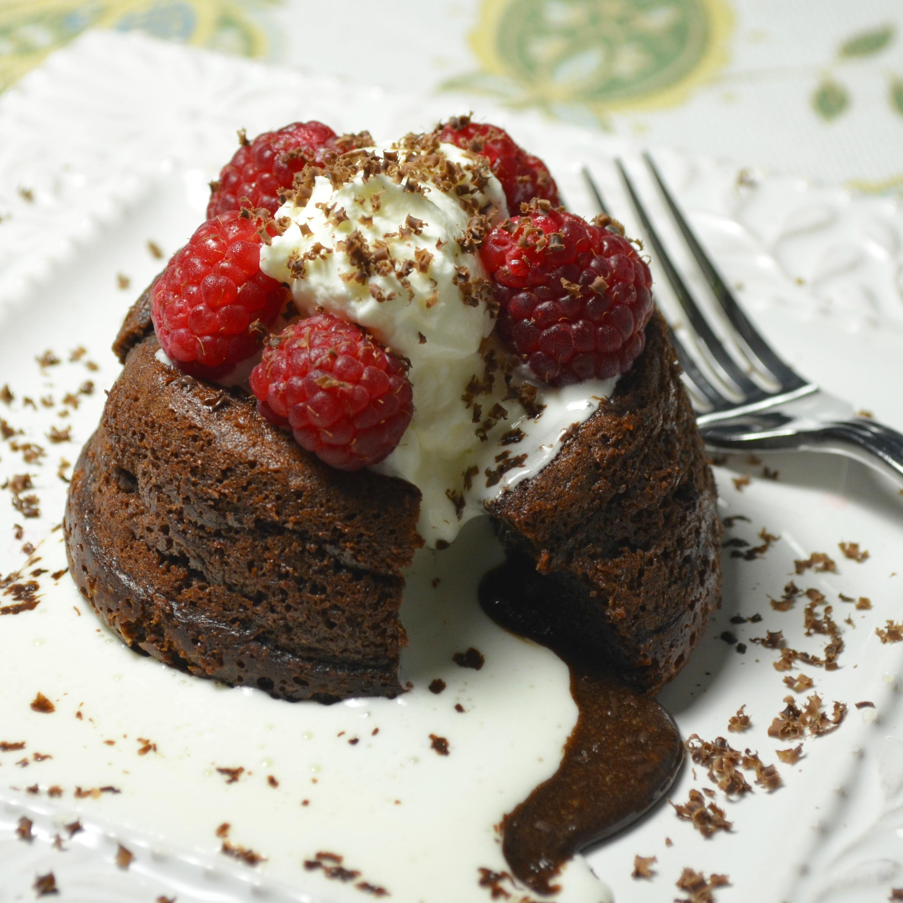 Sugar-Free Molten Chocolate Cakes