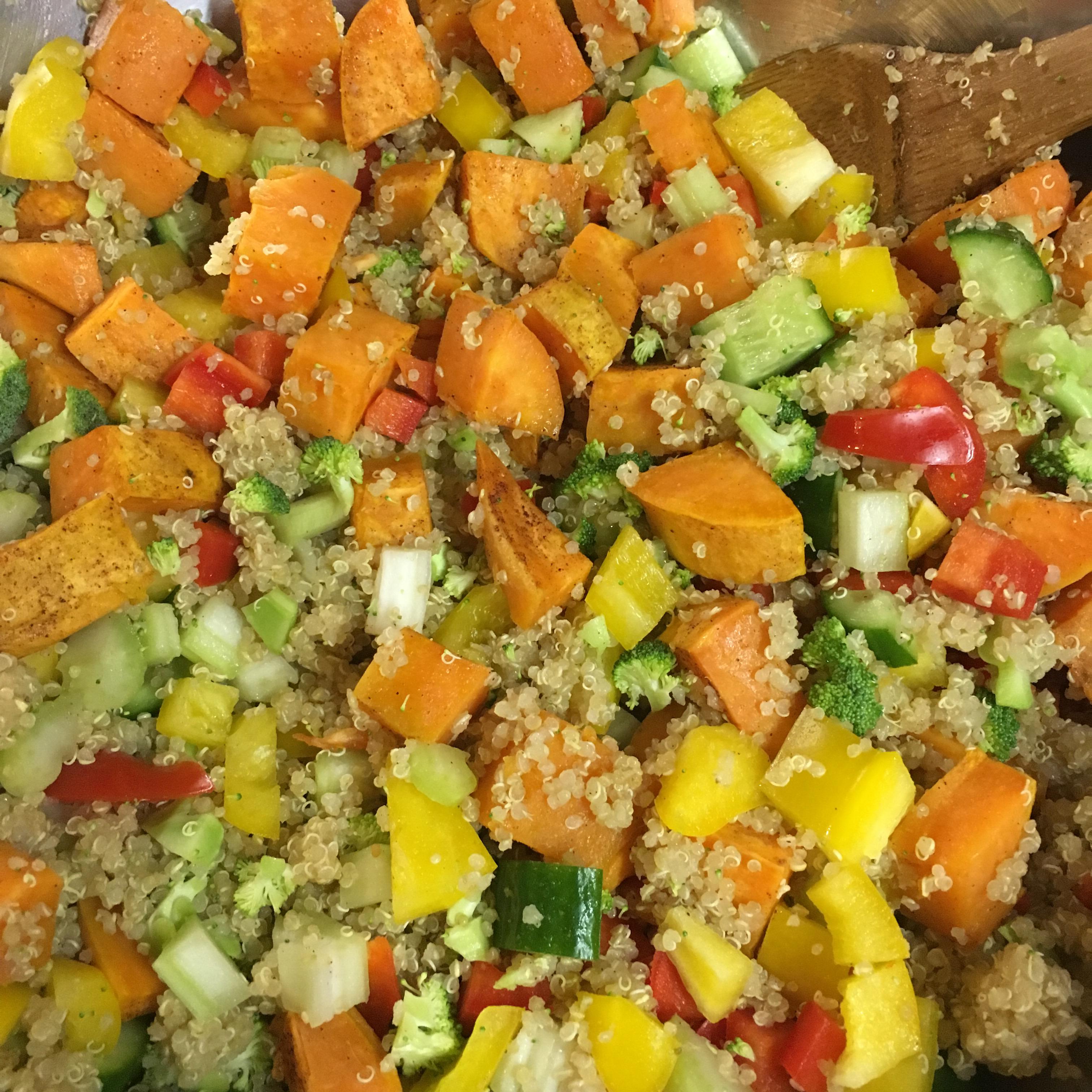 Roasted Sweet Potato Quinoa Salad Cateperry7