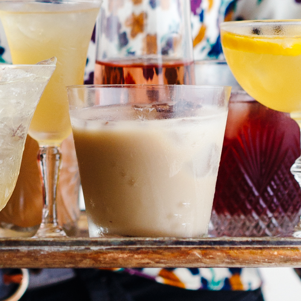 Skip eggnog in favor of this classic holiday cocktail recipe. We even sized it up for a thirsty group of revelers. Source: EatingWell Magazine, November/December 2017