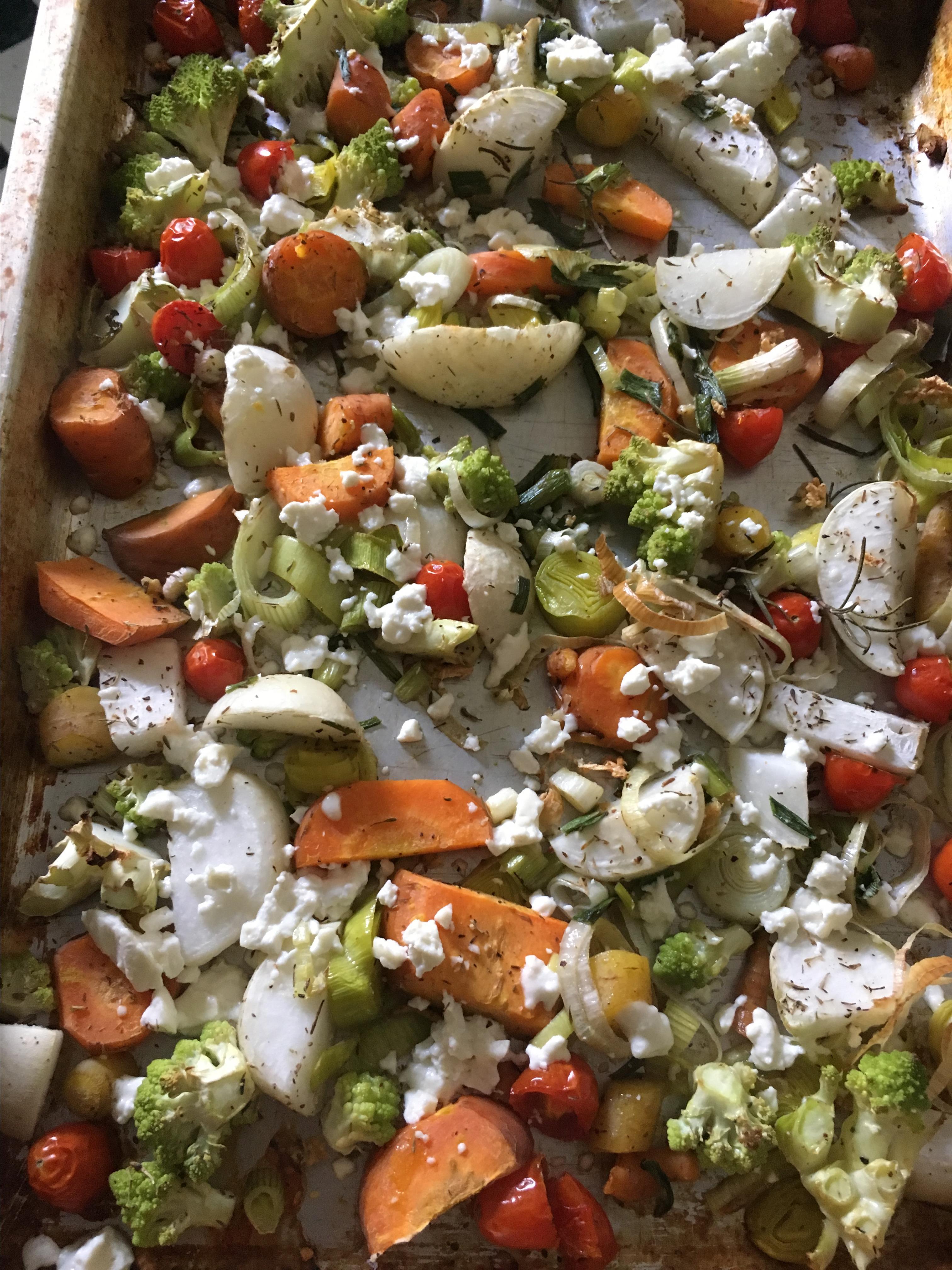 Sheet Pan Vegetable Dinner with Feta