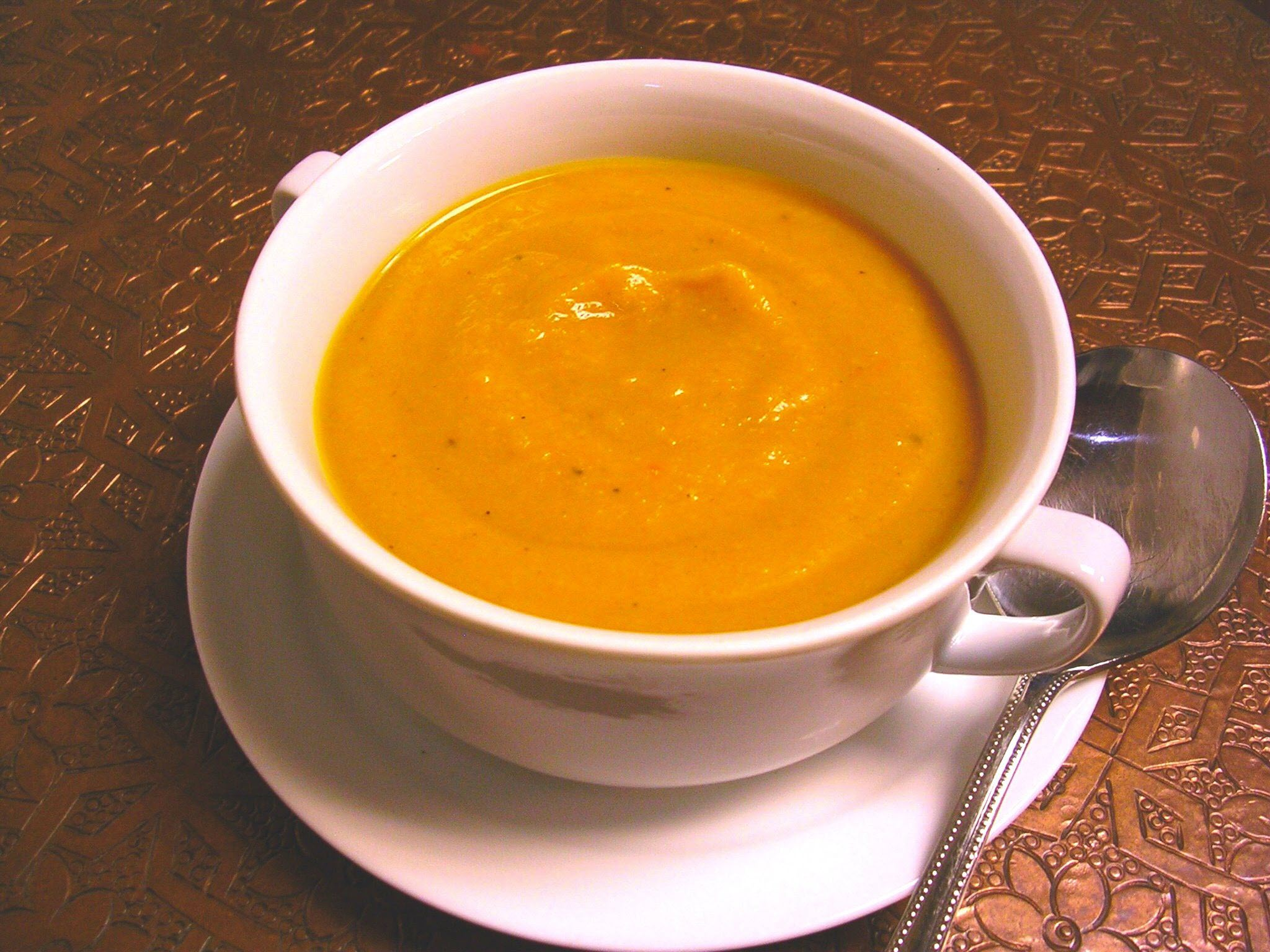Butternut Squash Soup with Persimmon