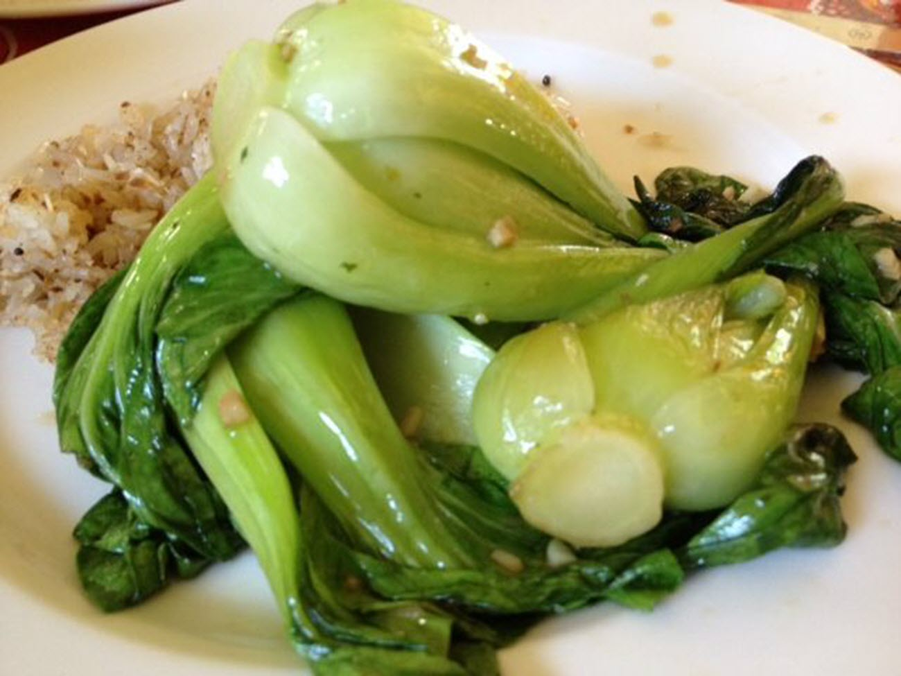 Quick Baby Bok Choy with Garlic