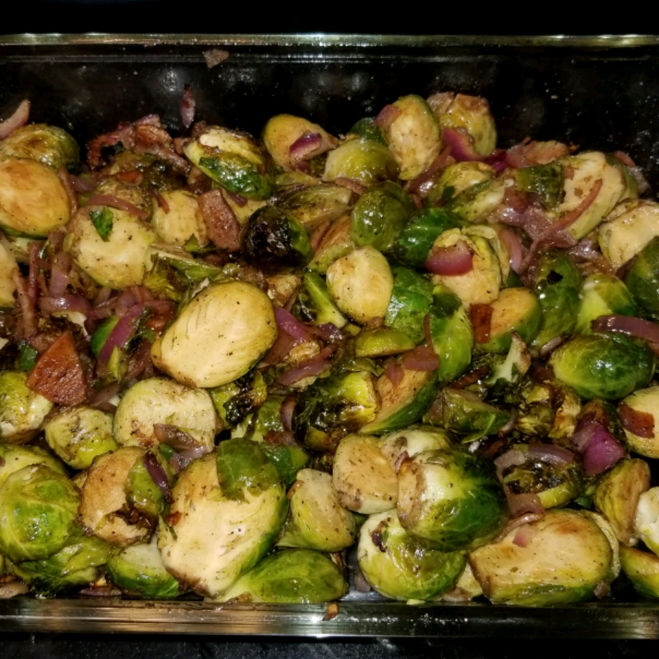 Balsamic-Glazed Brussels Sprouts John D. Clary