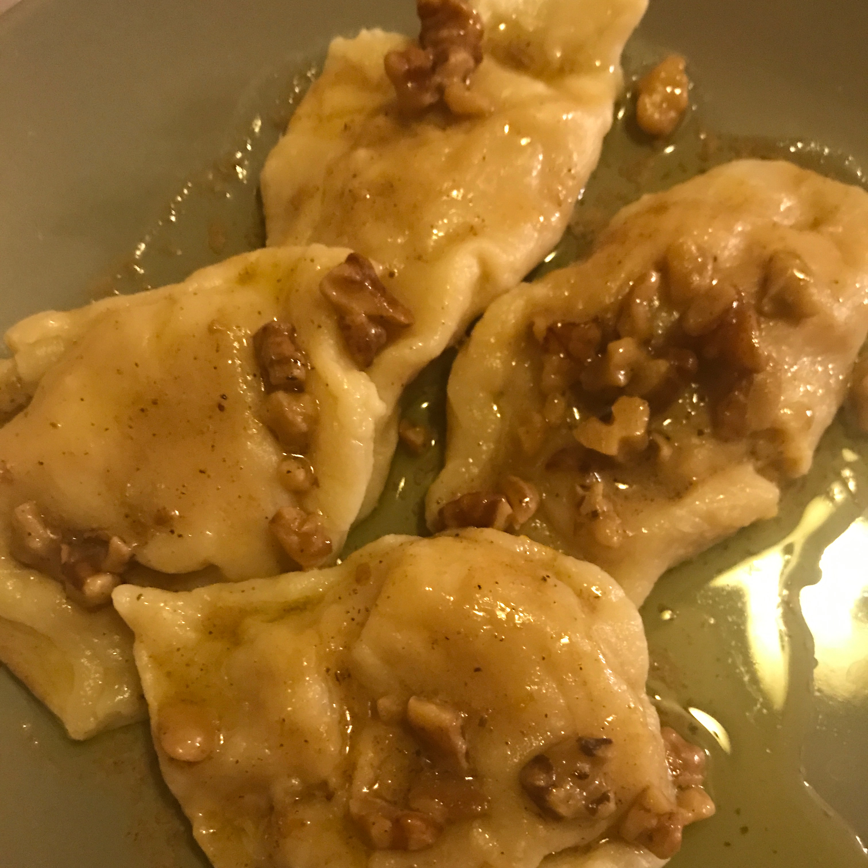 Butternut Squash Ravioli with Sage-Brown Butter Sauce Katie Ellingson