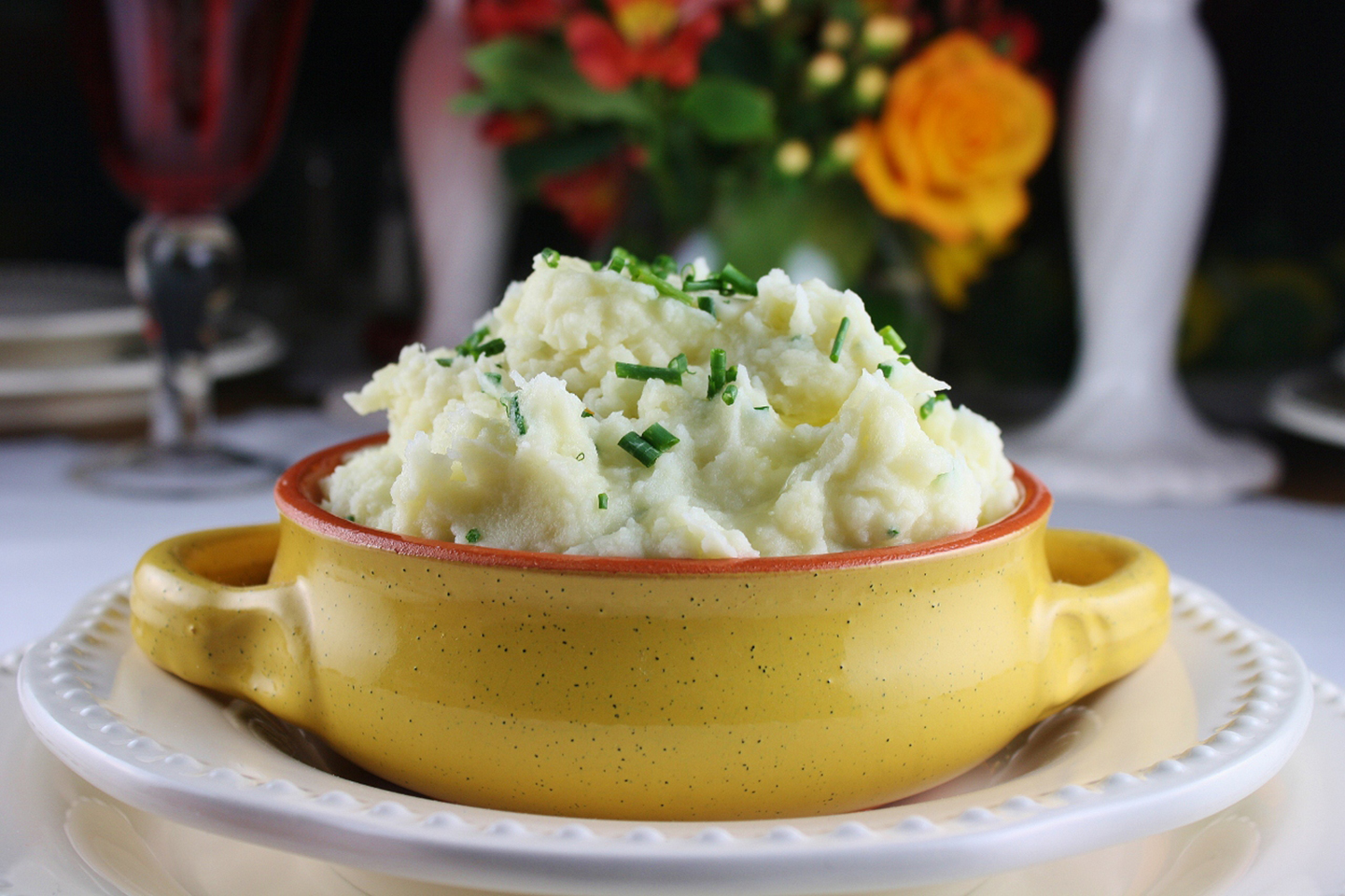 Roasted Garlic Parmesan Mashed Potatoes Angel