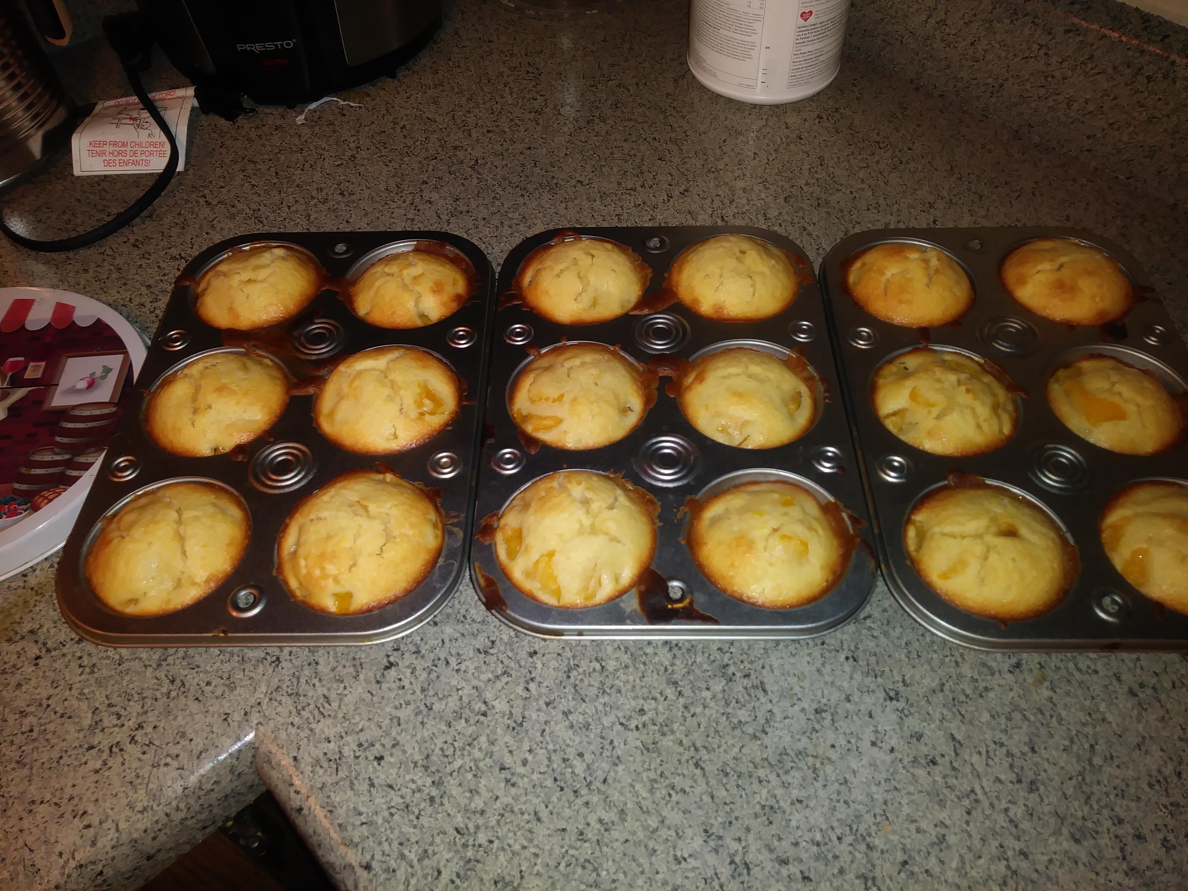 Peach Cobbler Muffins Leslie Priest