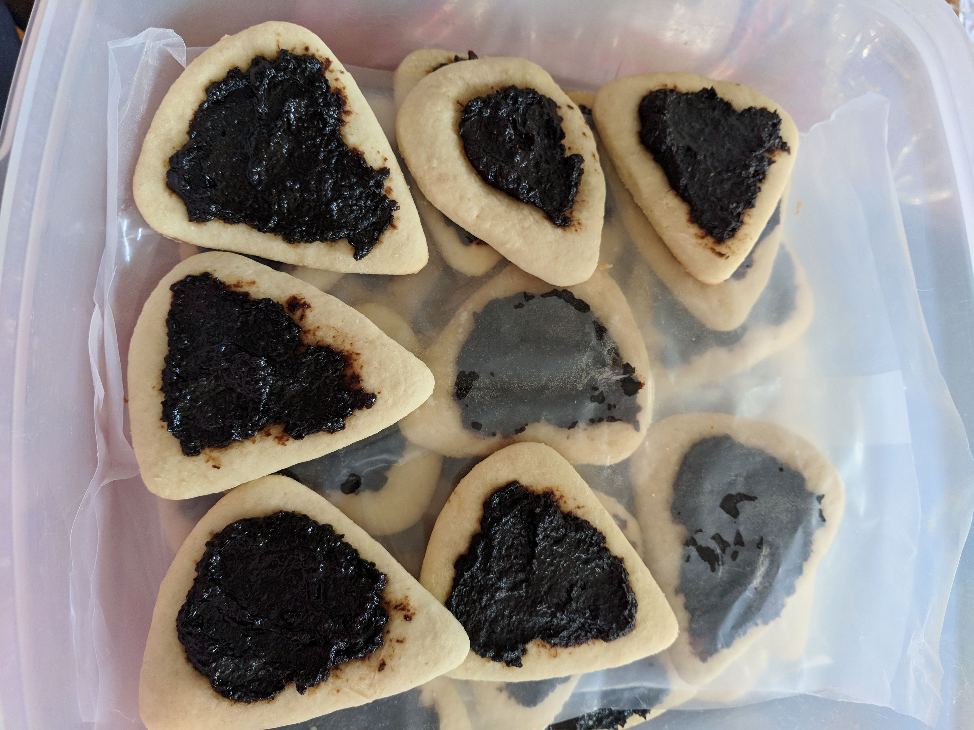 Purim Hamantaschen with Prune Filling