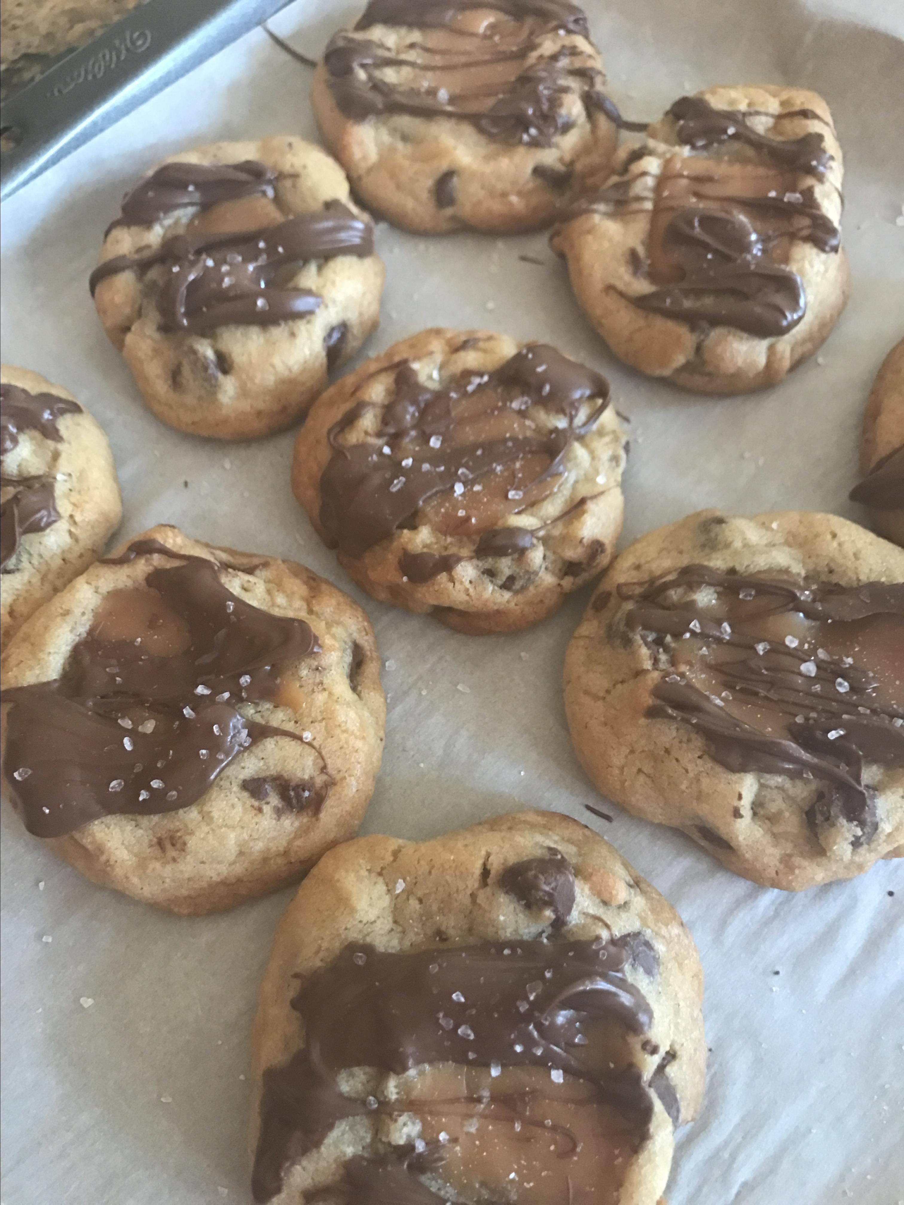 Salted Caramel Chocolate Chip Cookies from Pillsbury® Heather