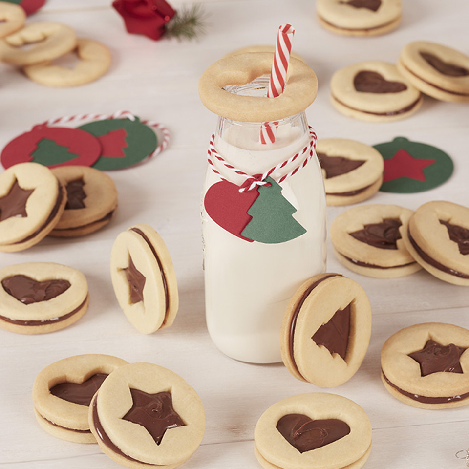 Holiday Cookie Sandwich with Nutella® hazelnut spread Nutella® hazelnut spread
