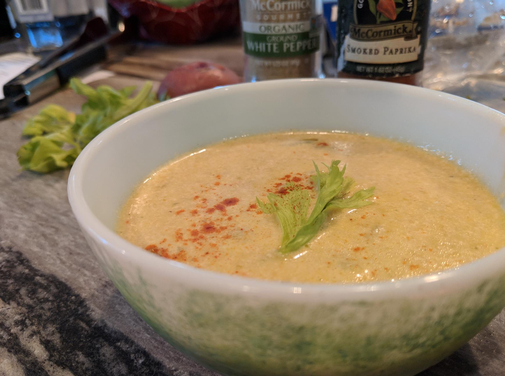 Vegetarian Green Chile Chowder