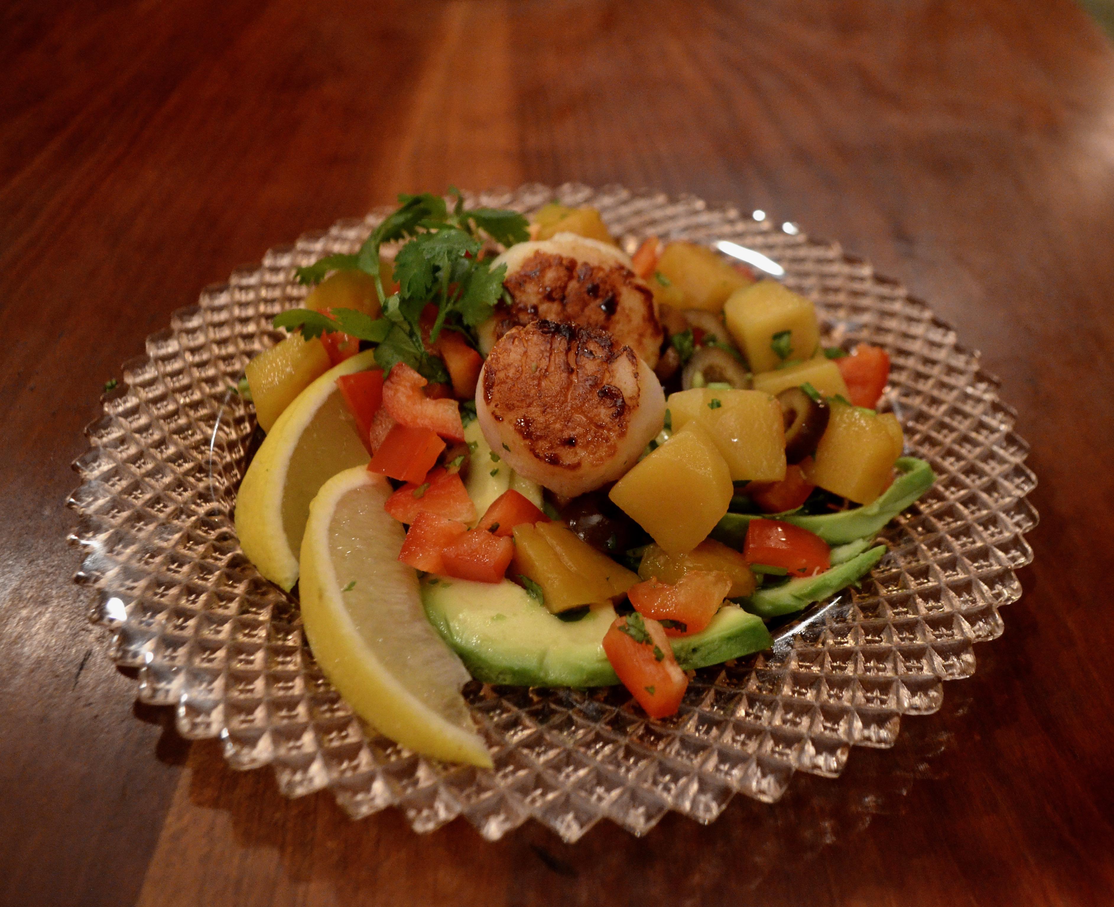 Avocado, Mango, and Scallop Salad