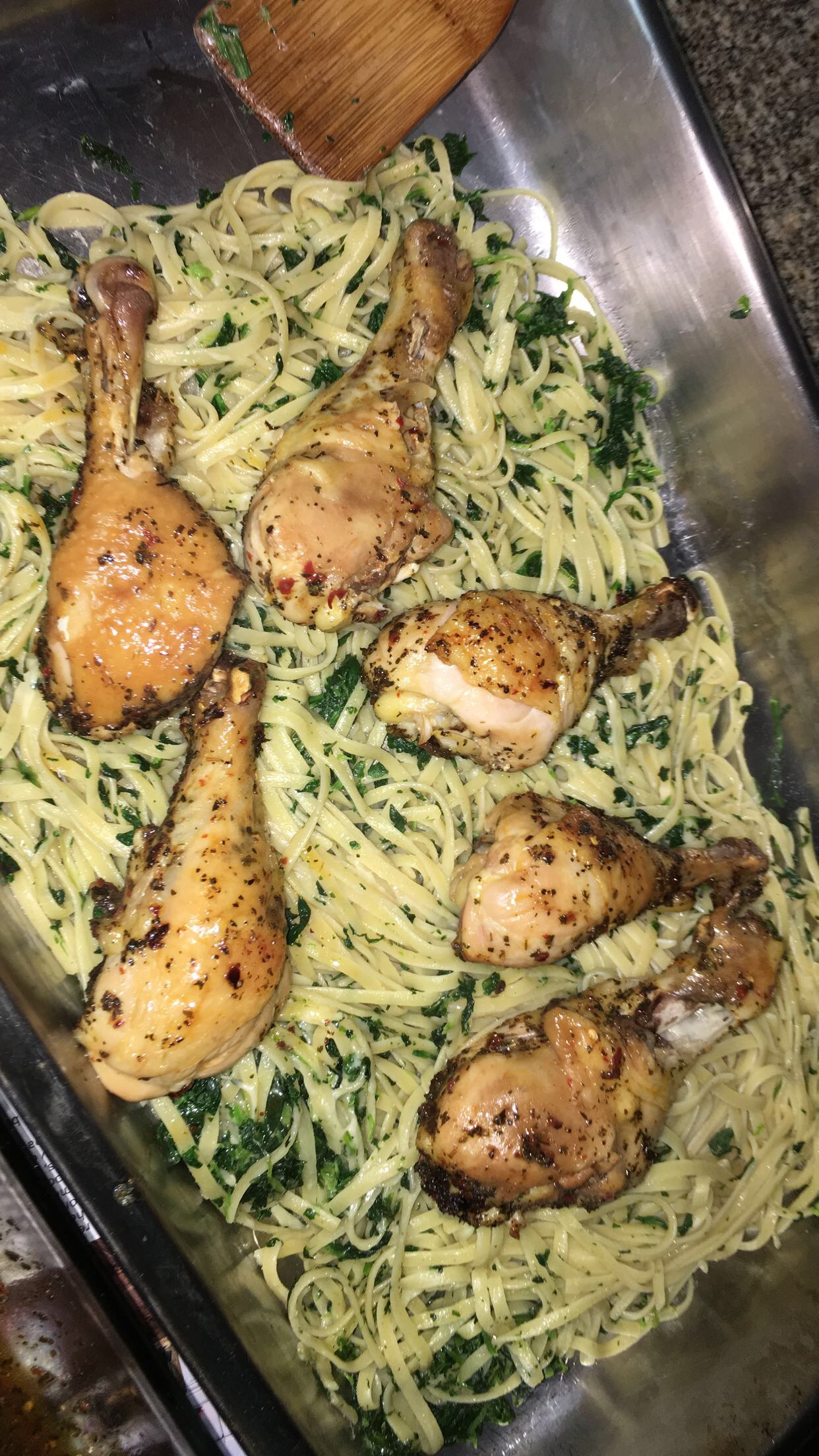 Oven Chicken and Linguini Cathy Salas