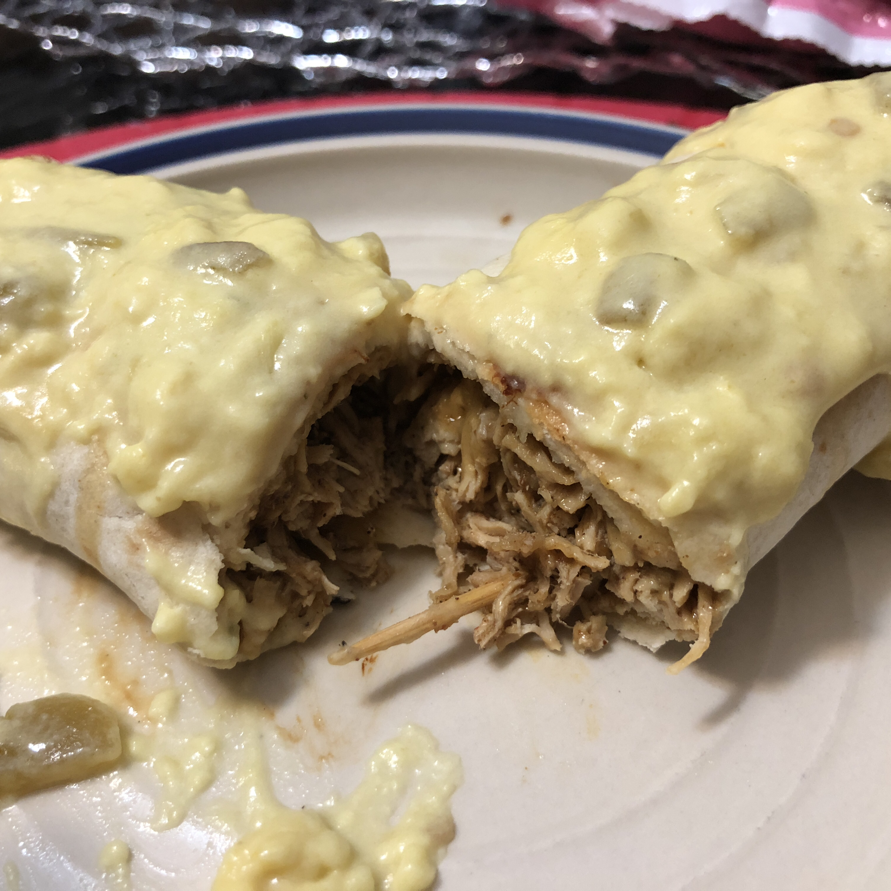Chicken Chimichangas with Sour Cream Sauce Katherine Soriano