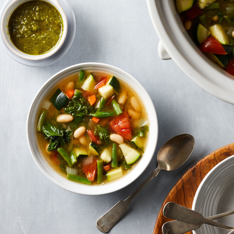 Slow-Cooker Vegetable Soup Hilary Meyer