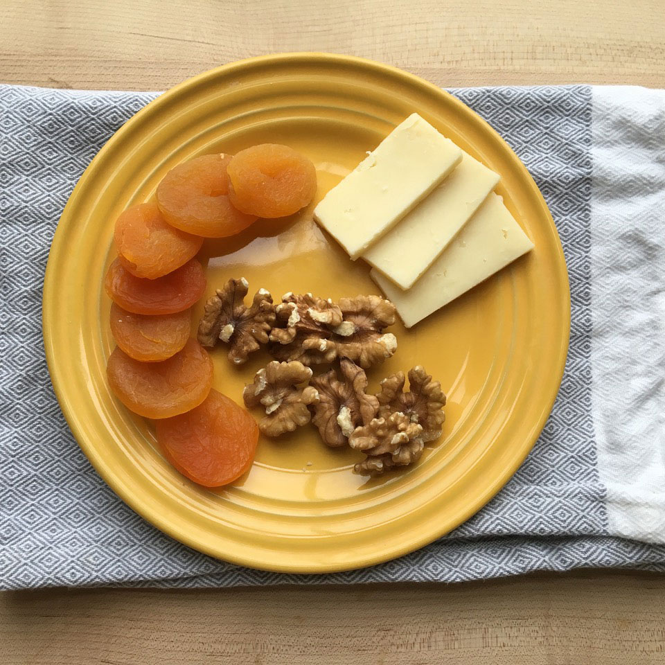 Apricots with Walnuts & Cheese Victoria Seaver, M.S., R.D.