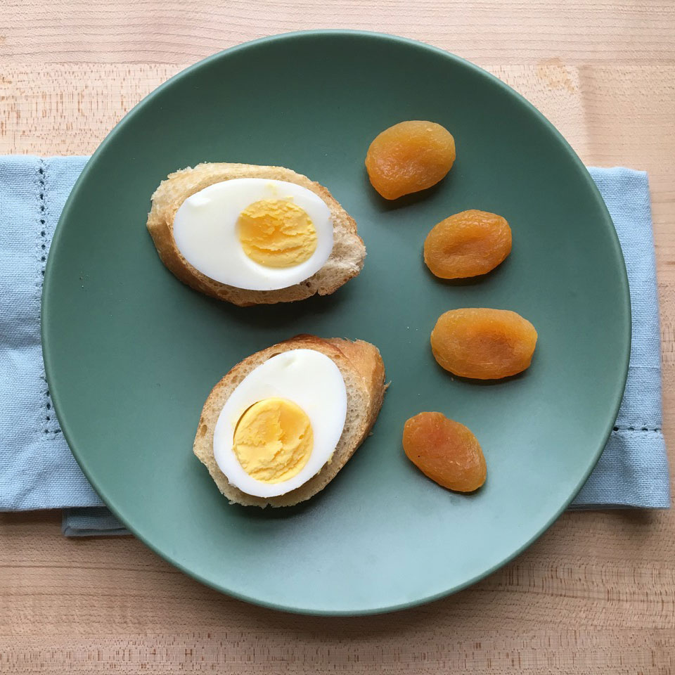Egg-Topped Baguette with Apricots Trusted Brands