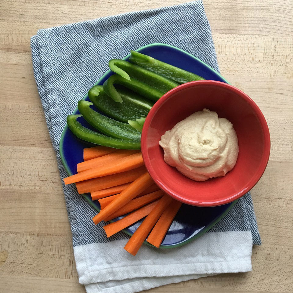 Peppers & Carrots with Hummus Trusted Brands