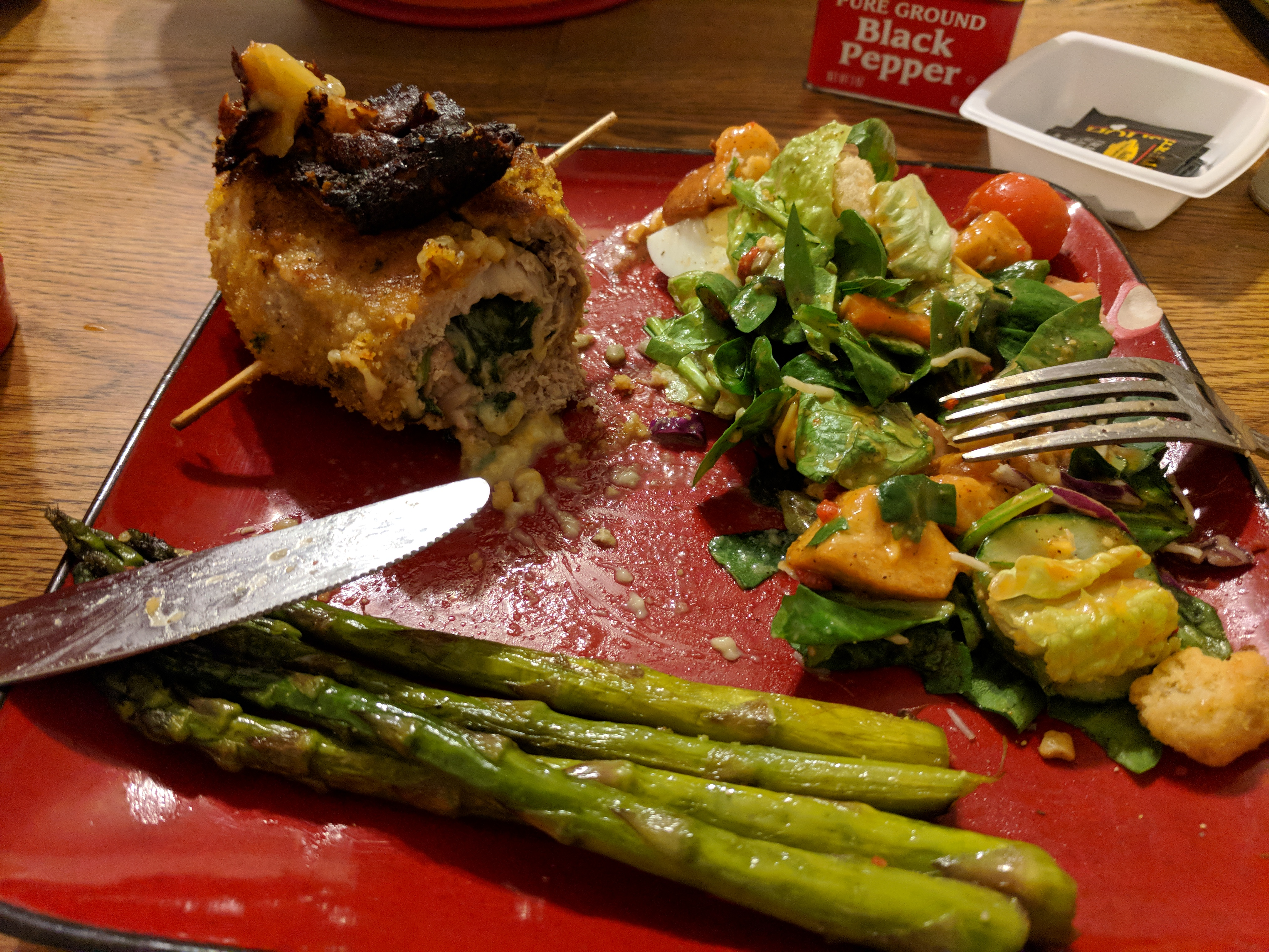Gouda and Spinach Stuffed Pork Chops Joseph Cullipher