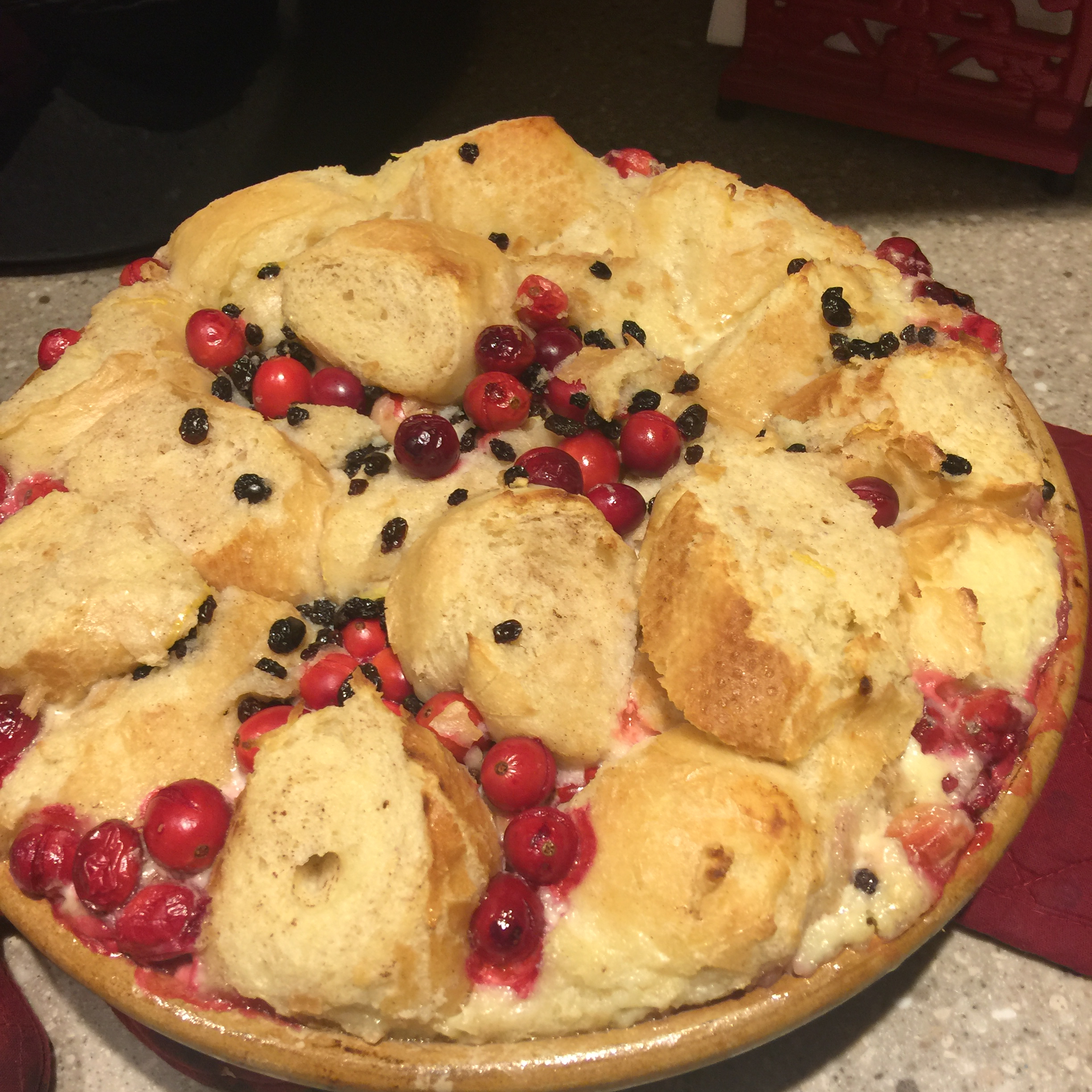Cranberry Bread Pudding Susan Clark Thill