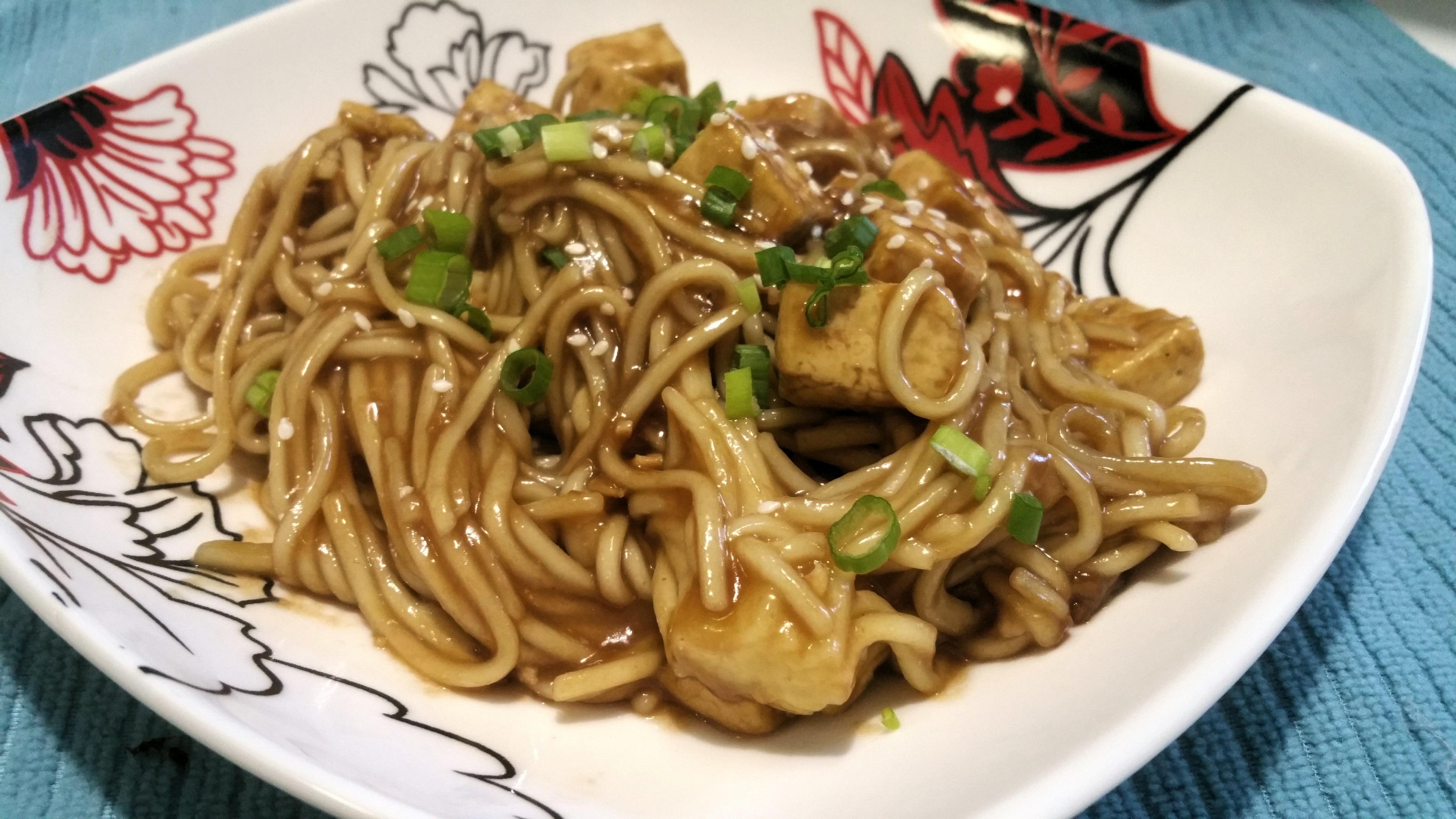 Easy Teriyaki Tofu Lo Mein