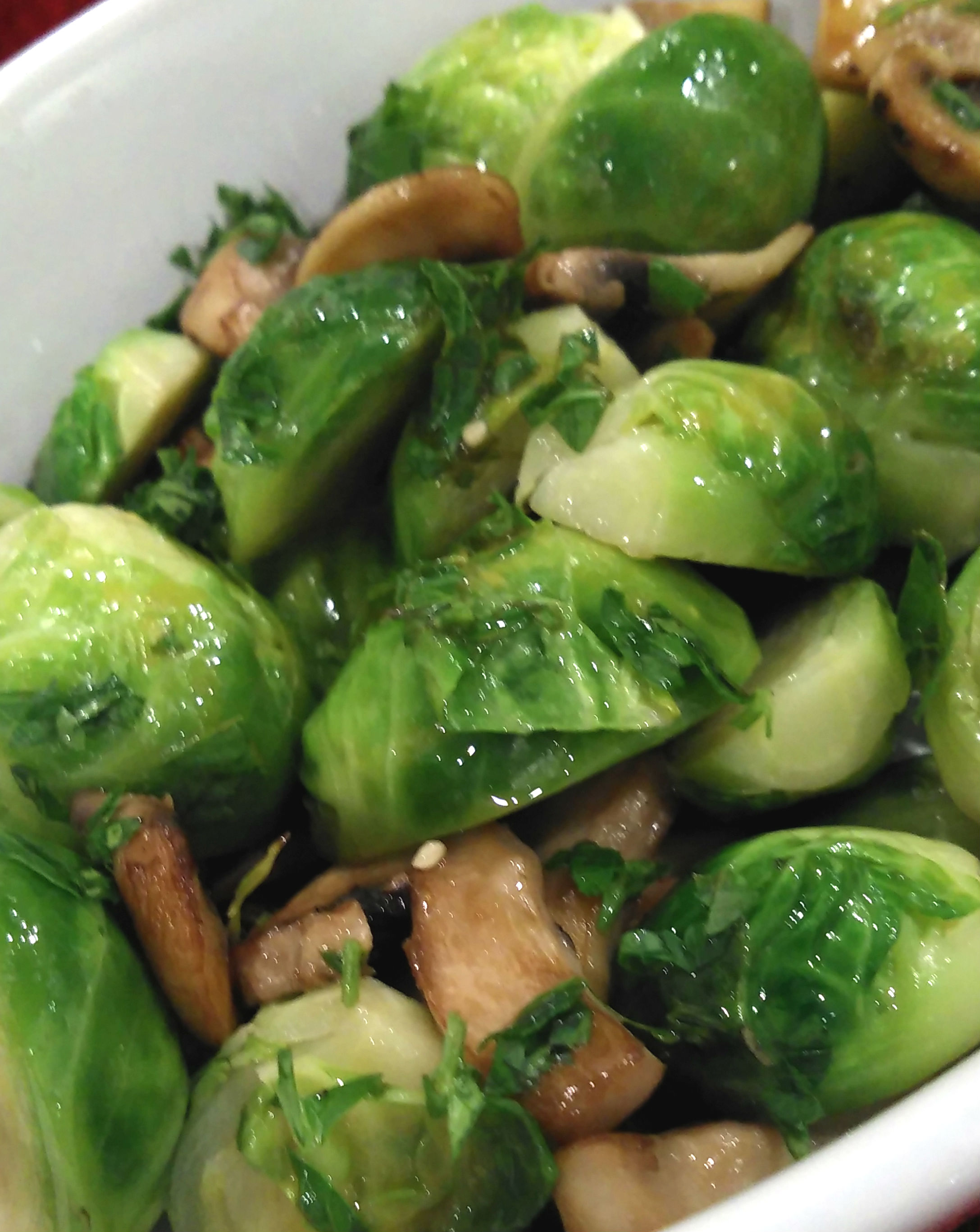 Brussels Sprouts with Mushrooms