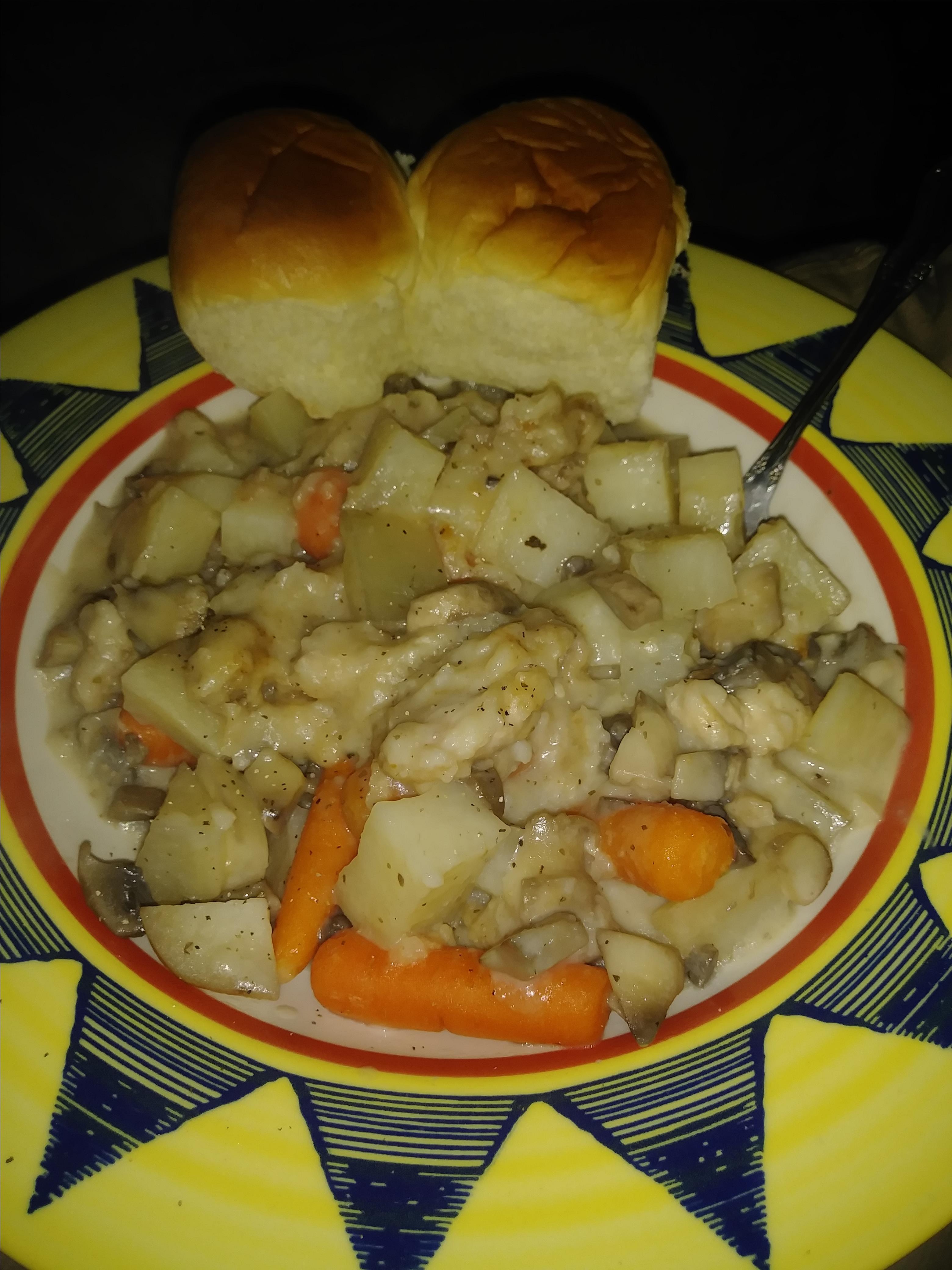 Braised Rabbit with Mushroom Sauce