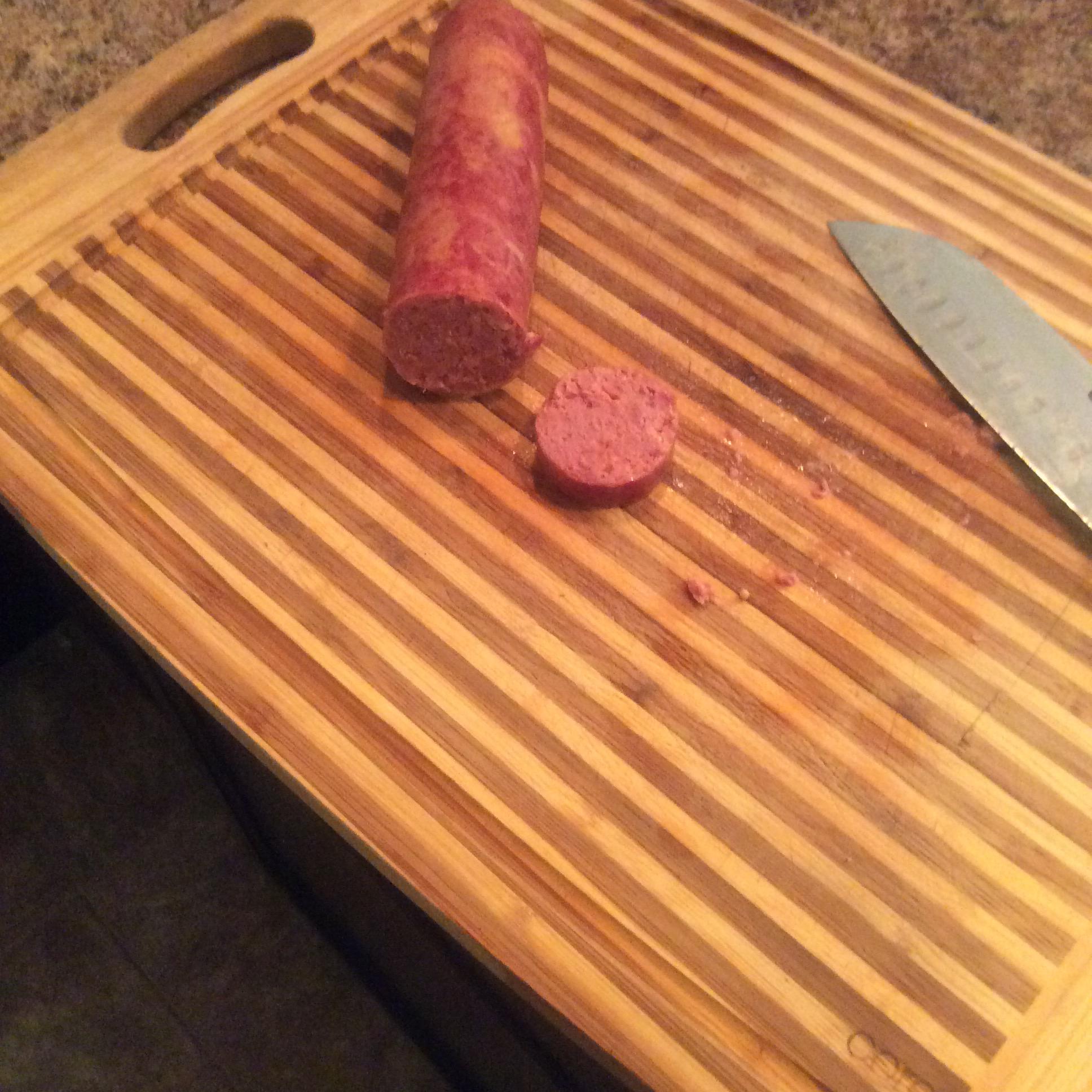Venison Cheddar-Jalapeno Summer Sausage