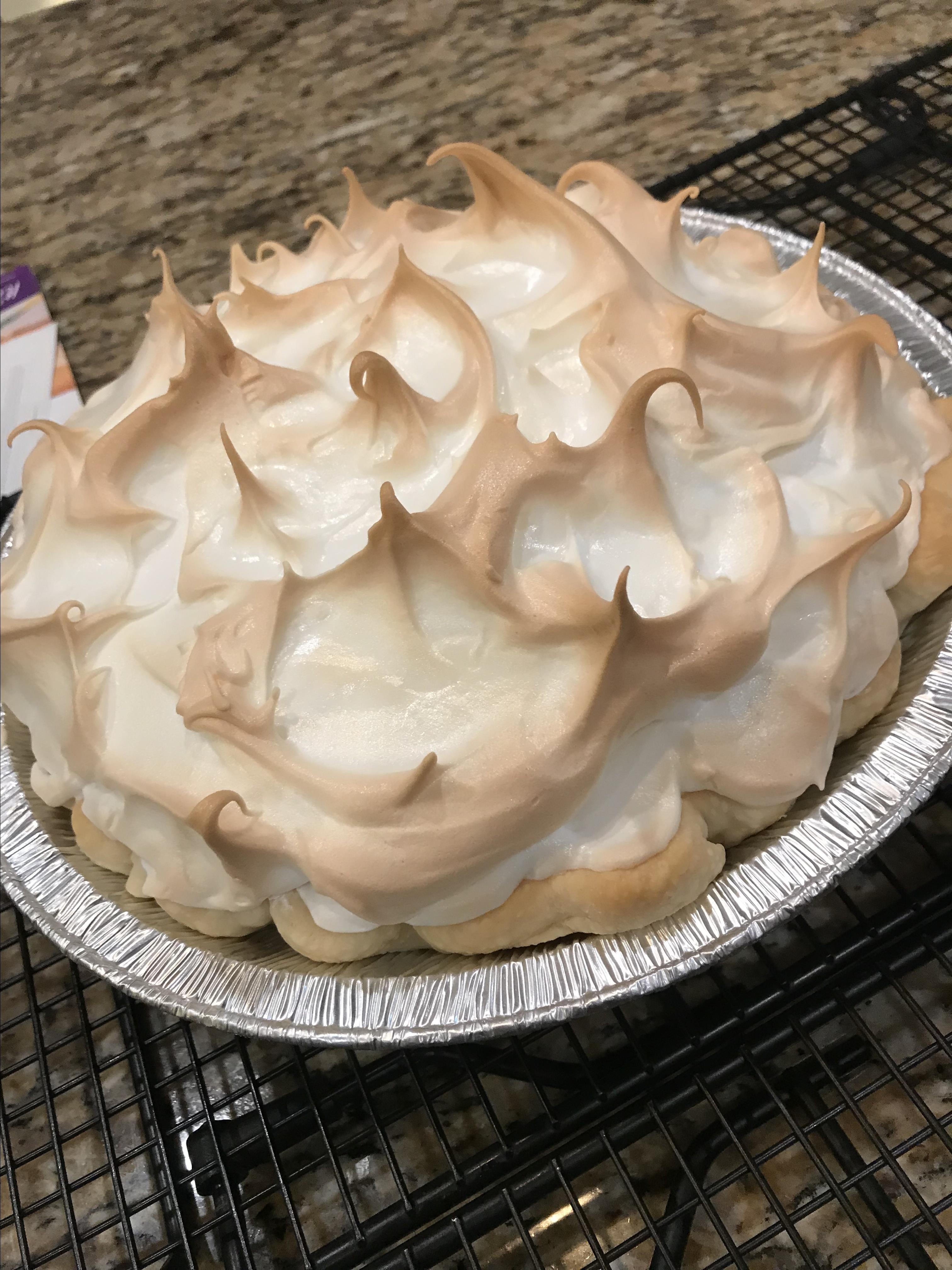 Mom's Chocolate Meringue Pie staceywatts