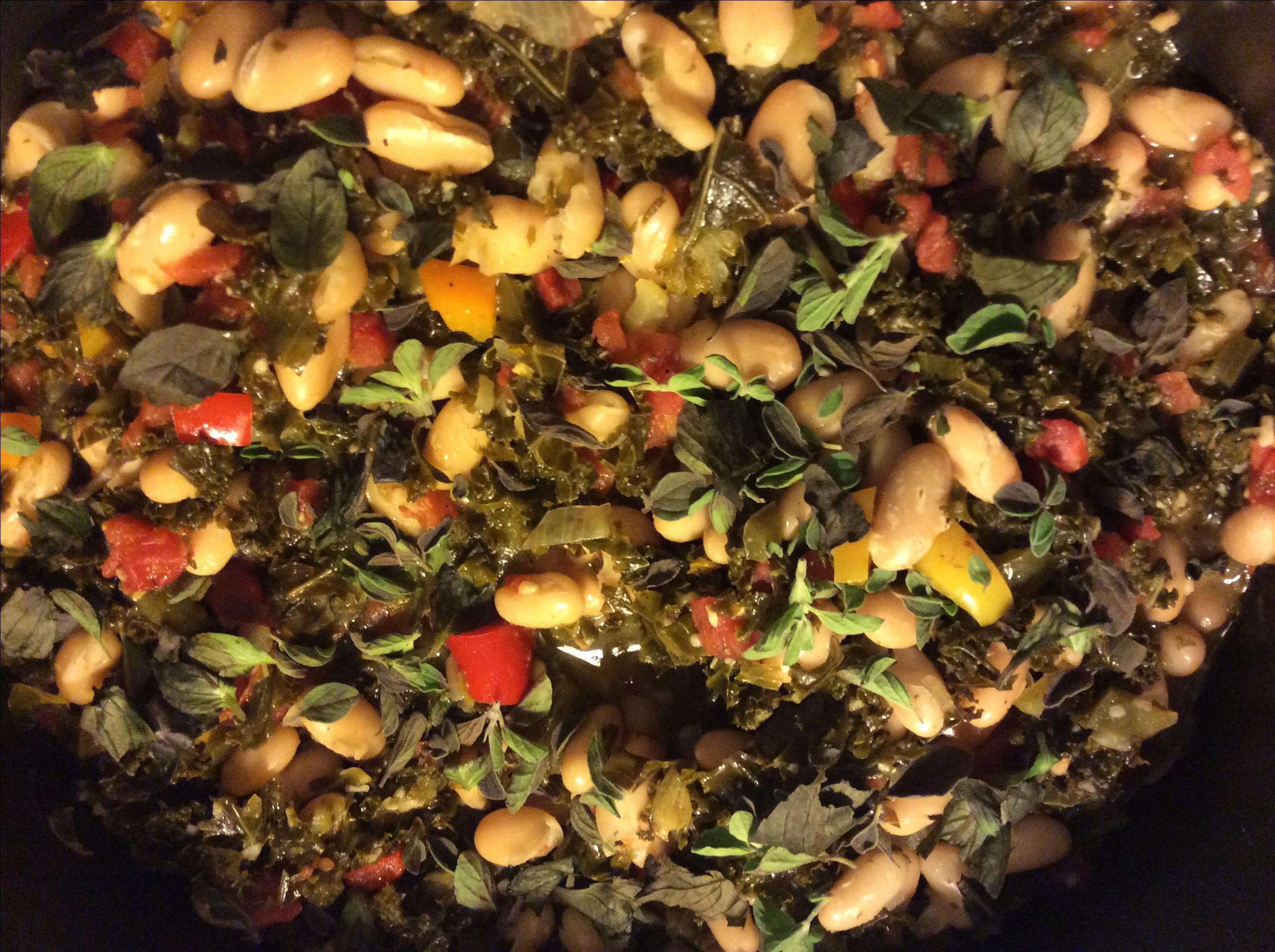 Bean and Kale Ragu Erica Dawn