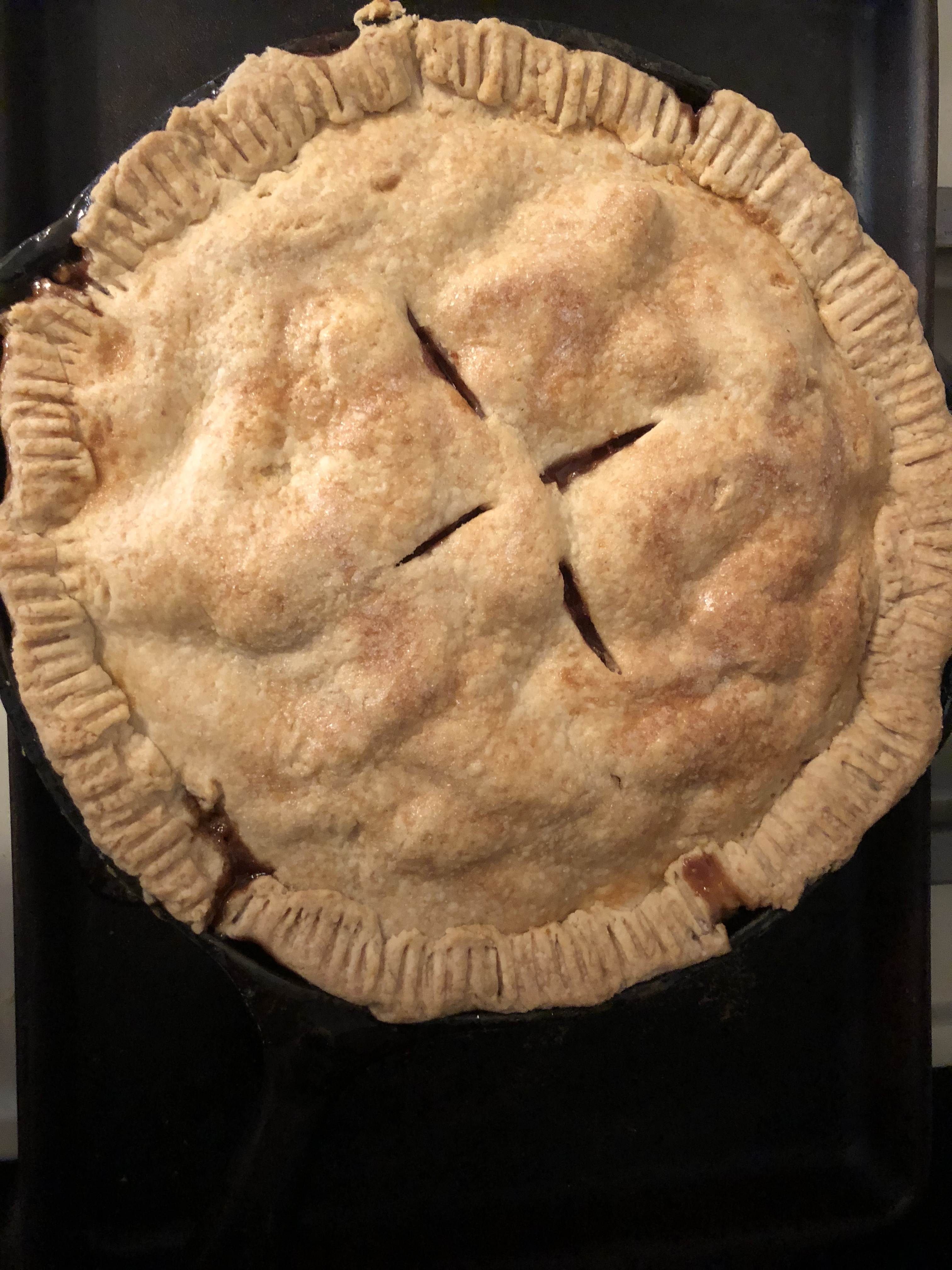 Grandma's Iron Skillet Apple Pie kjngrl@gmail.com