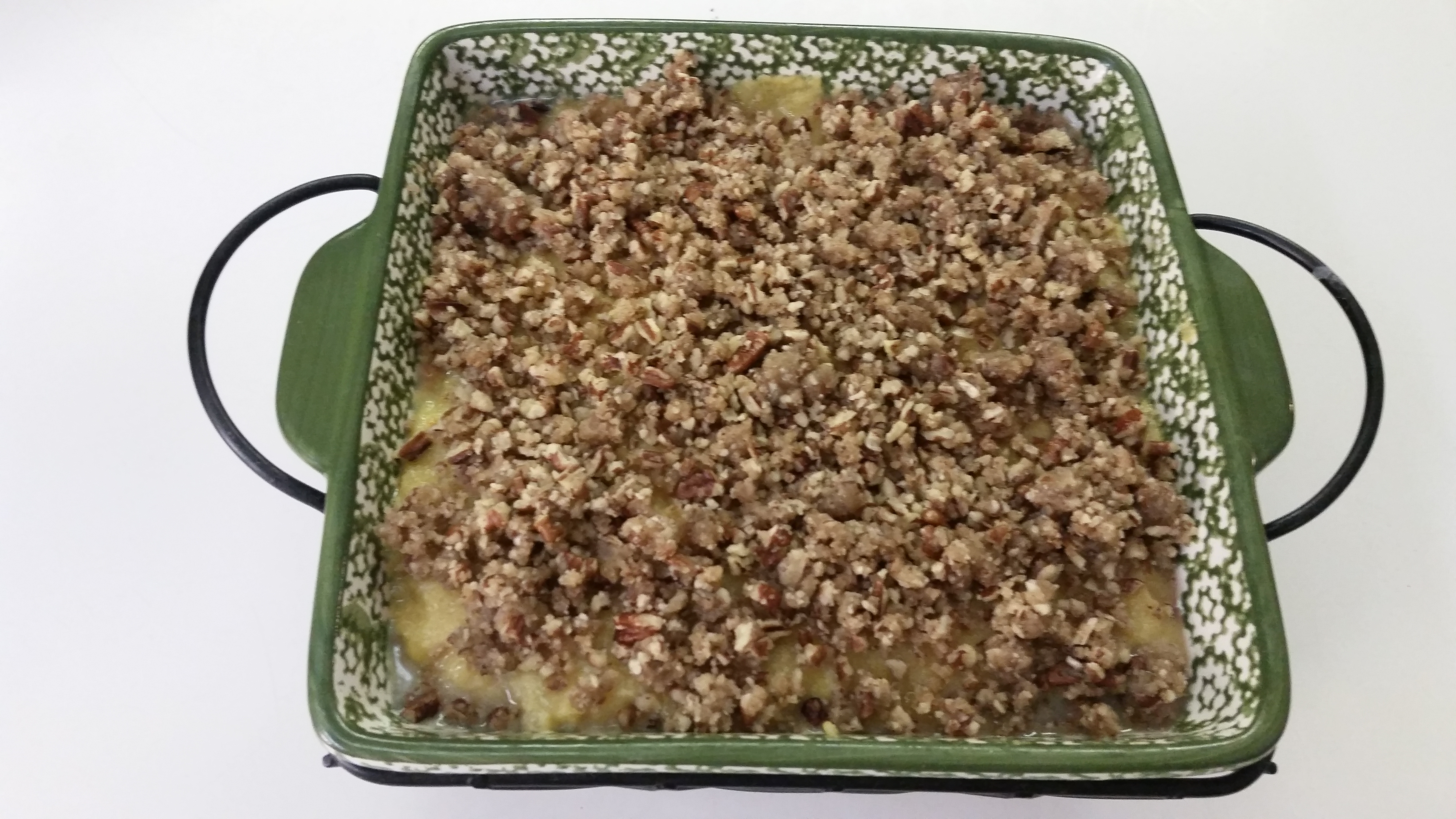 Squash Casserole with Crunchy Pecan Topping James