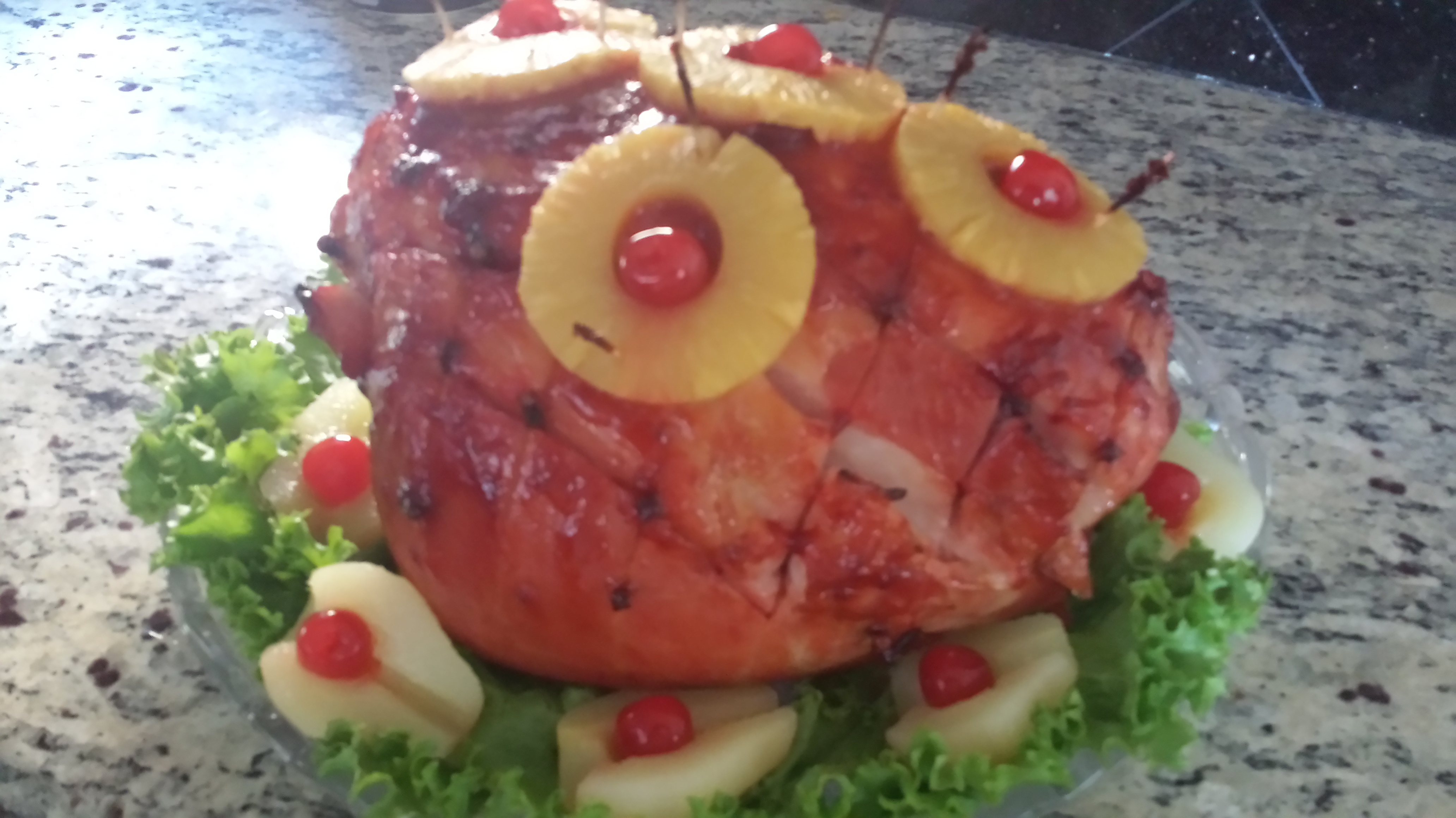 Honeydear's Holiday Pineapple Baked Ham