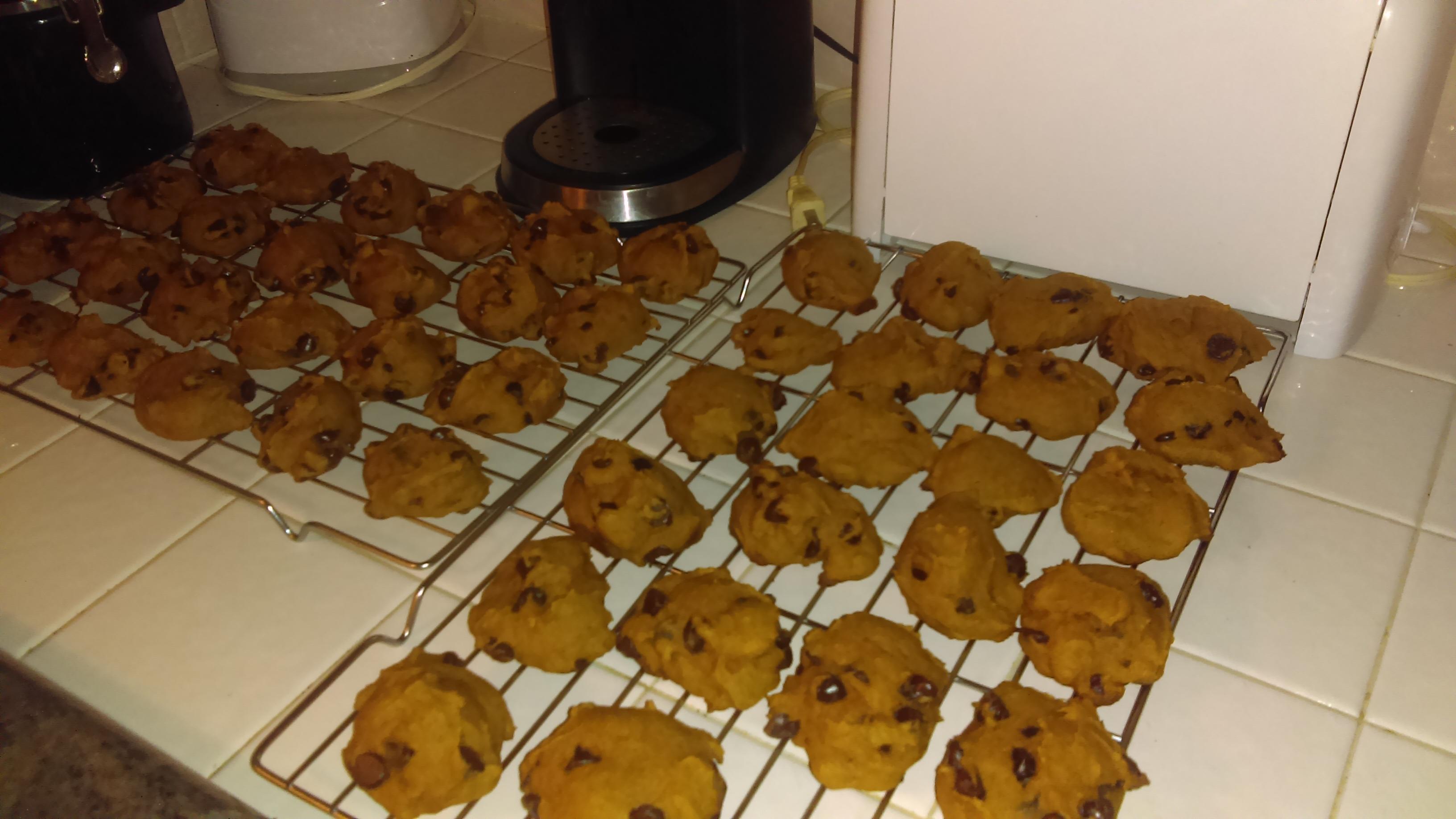 Pumpkin Chocolate Chip Cookies III monster baker