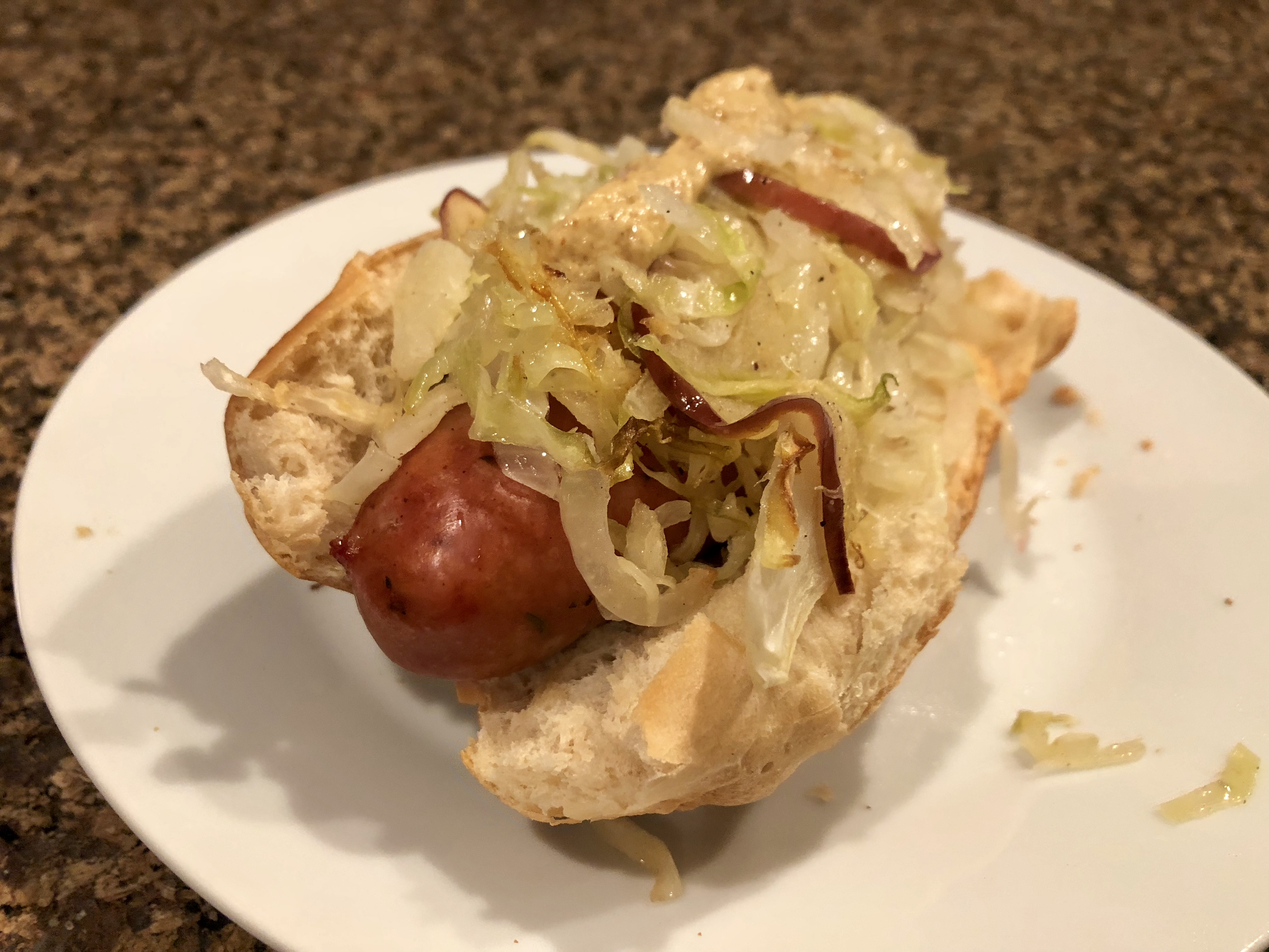 Basic Sheet Pan Chicken Sausage and Roasted Cabbage