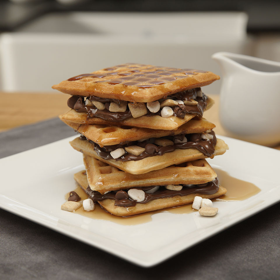 Over-the-Top S'mores Waffles