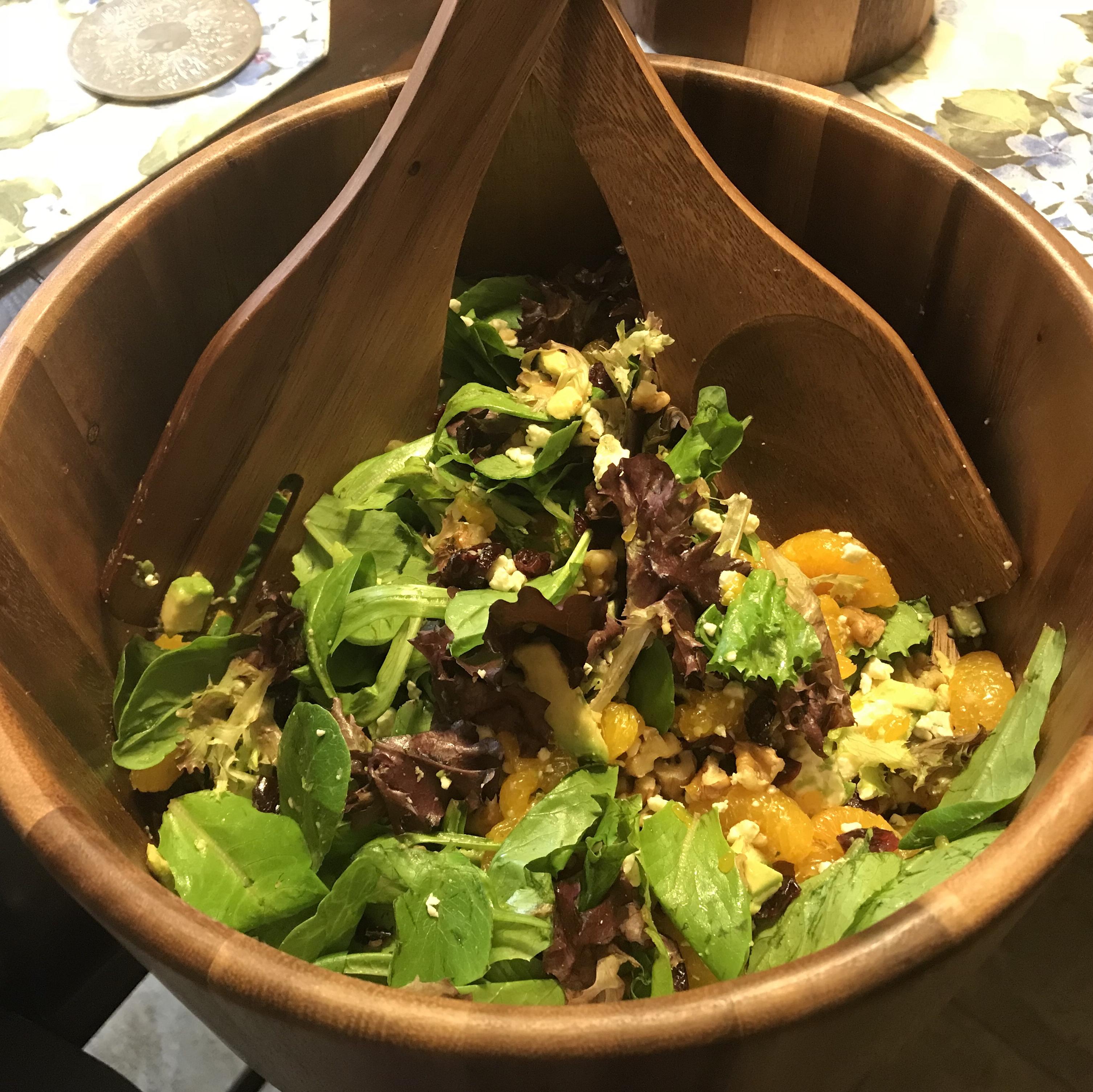 Cranberry, Glazed Walnut, Orange, Avocado, and Blue Cheese Salad Jeff