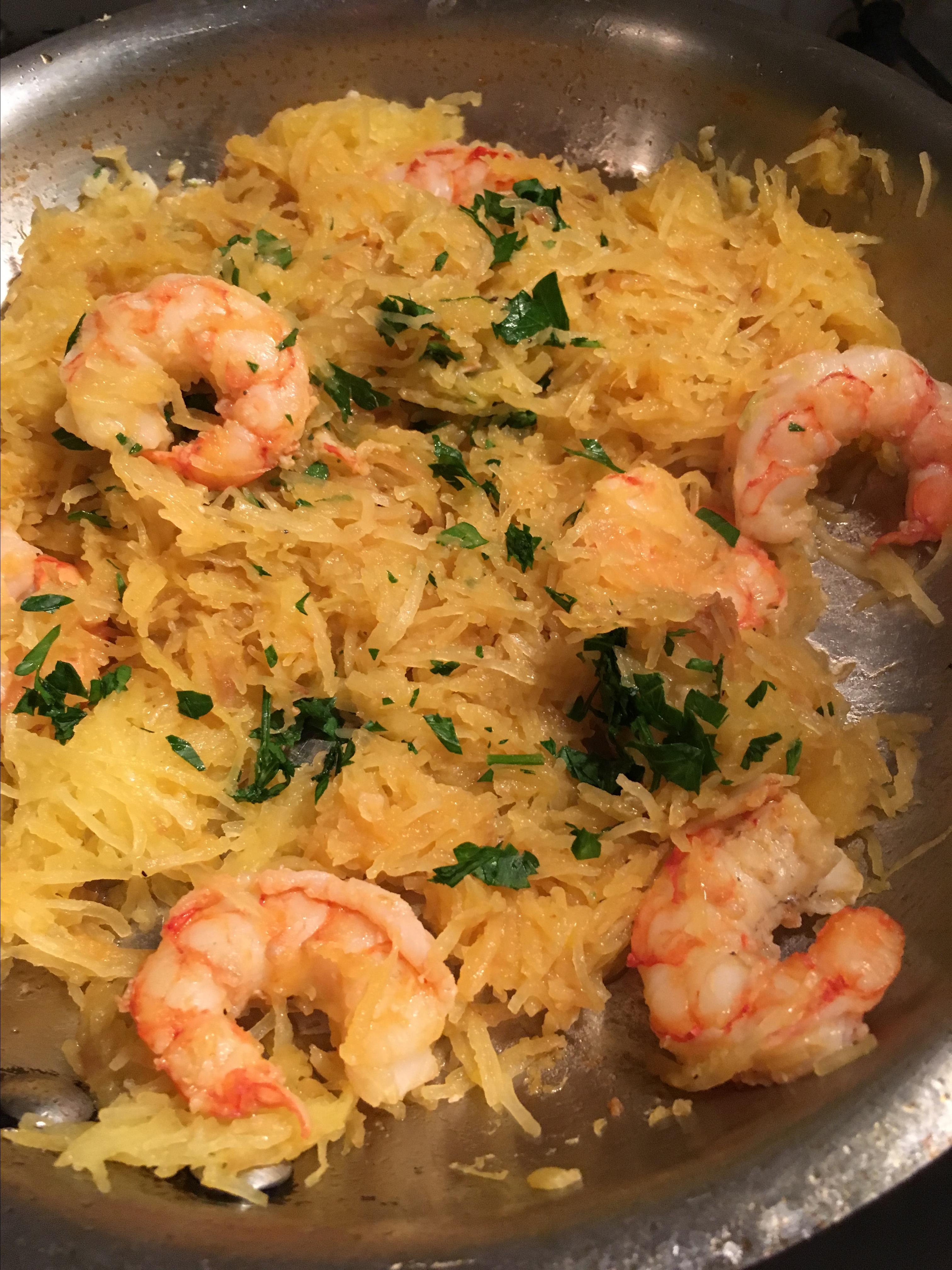Shrimp Scampi with Spaghetti Squash barbara