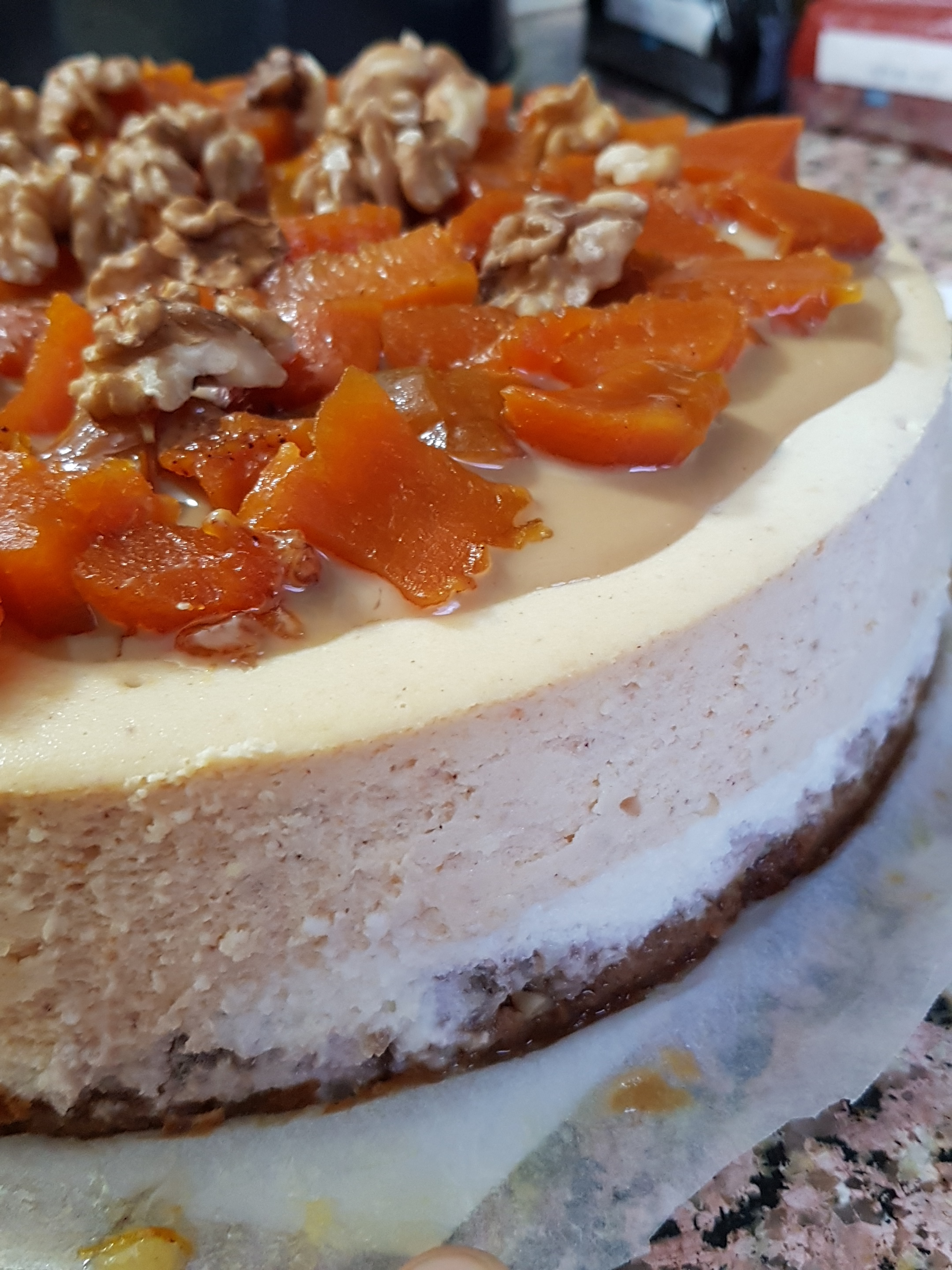 Pumpkin Tahini Cheesecake