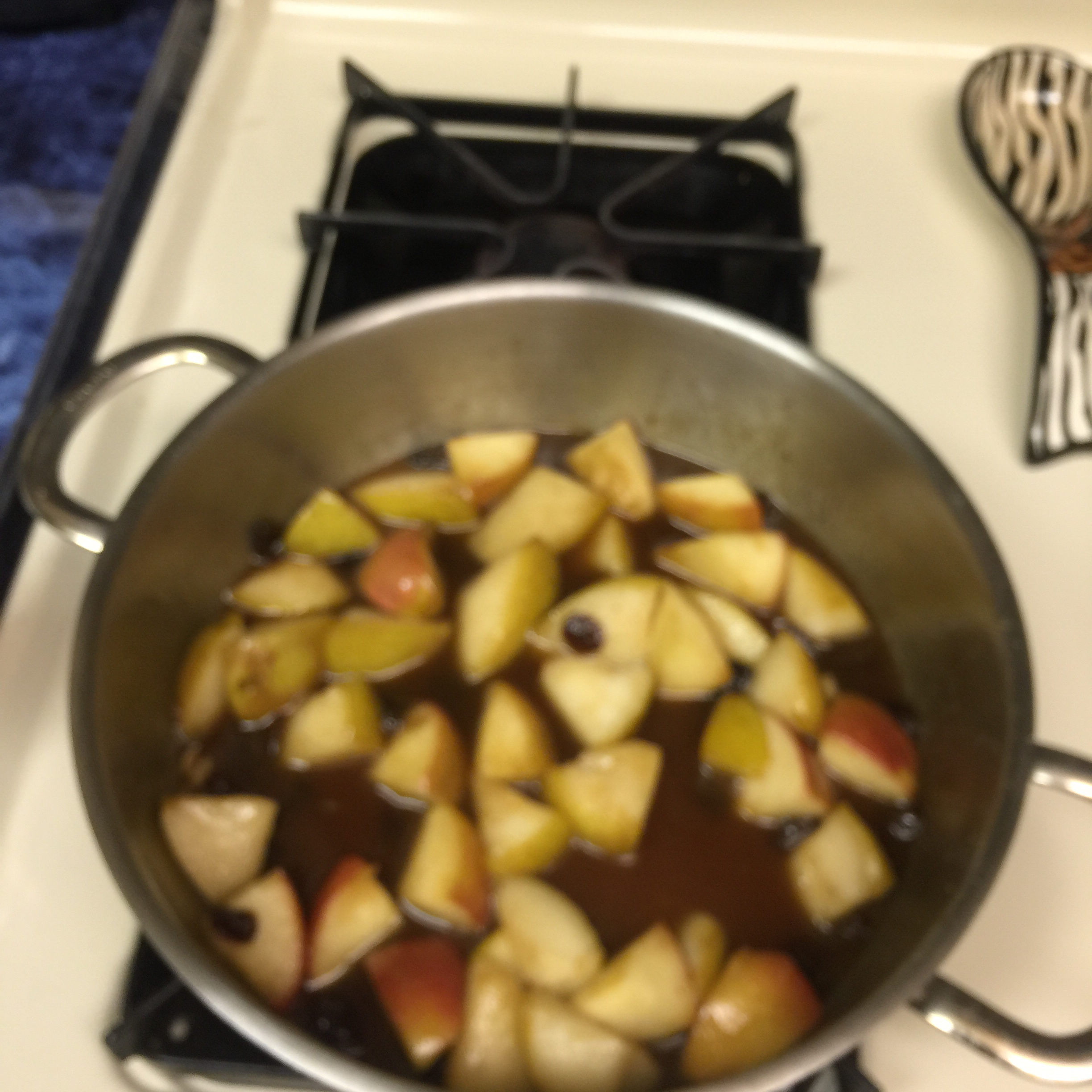 Bourbon Fried Apples
