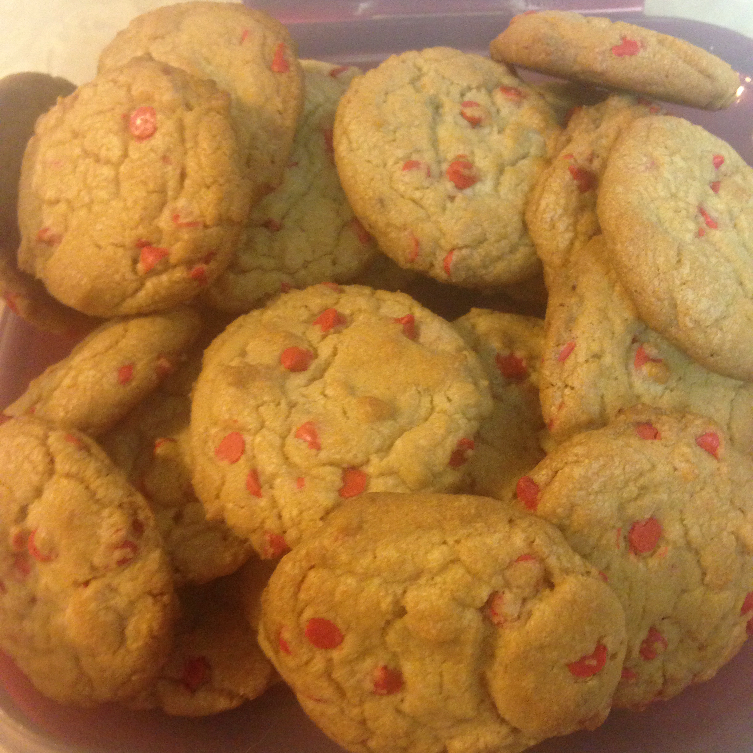 Cherry Chip Cookies II chickety