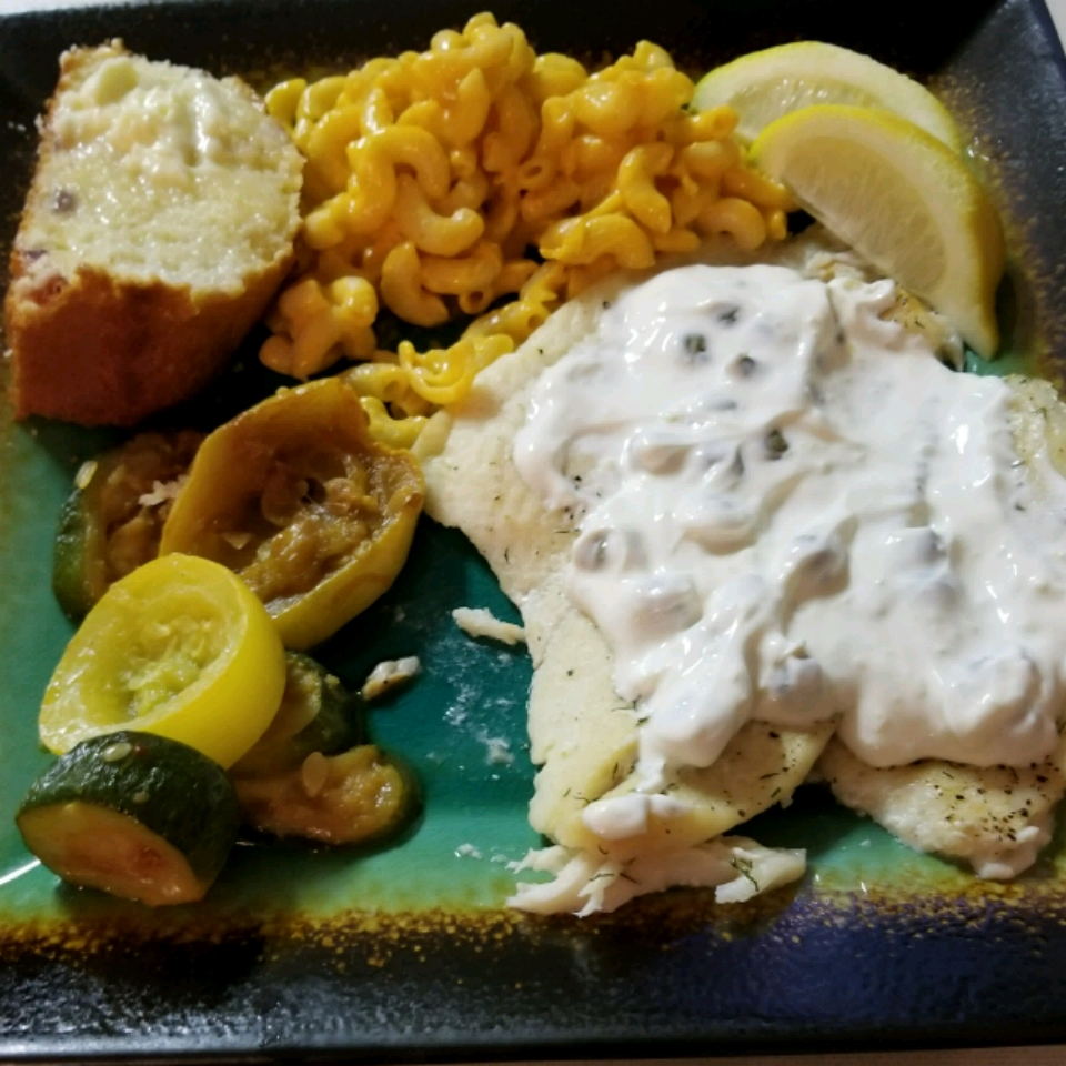 Baked Flounder With Dill And Caper Cream Jan Marie